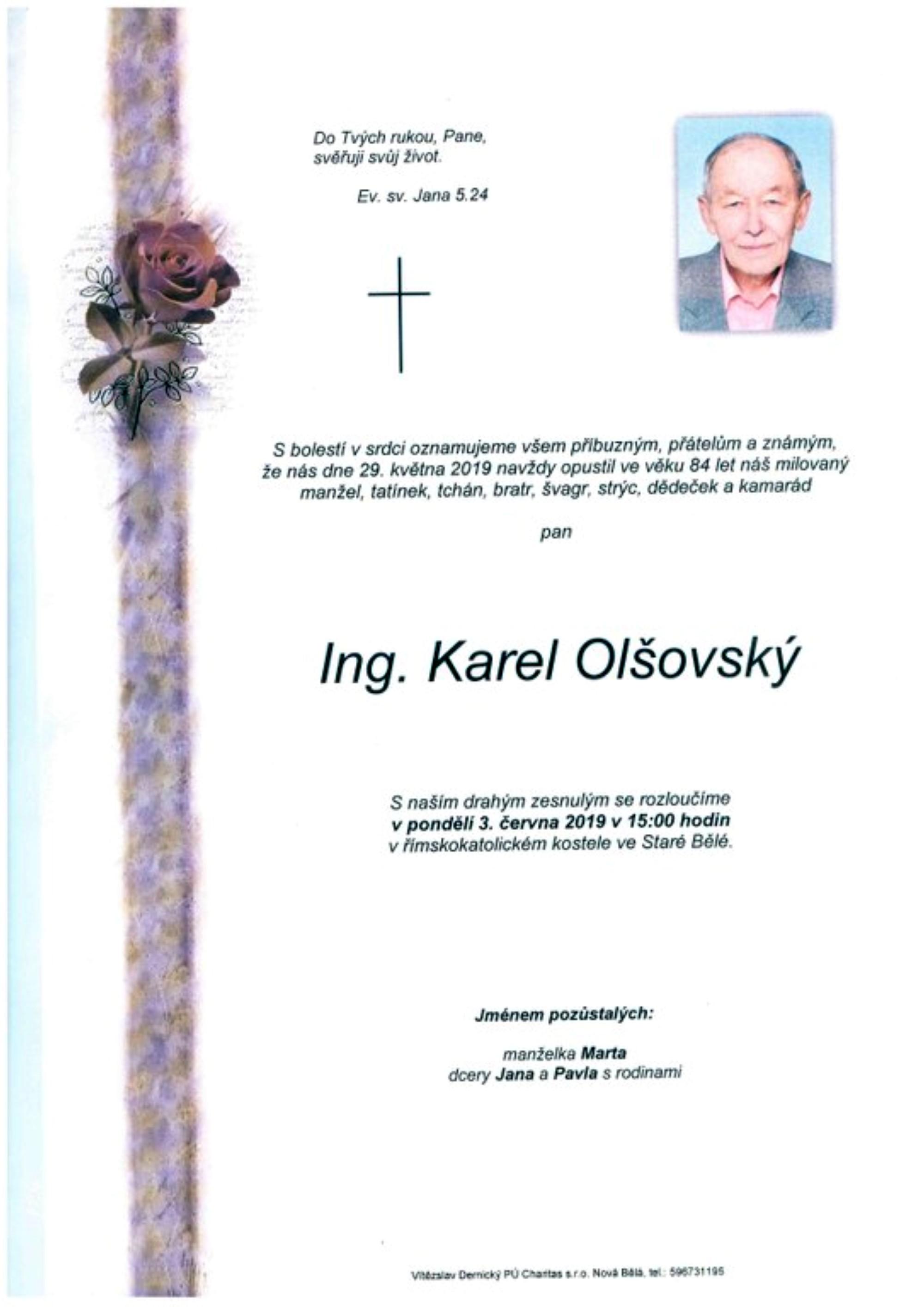 Ing. Karel Olšovský