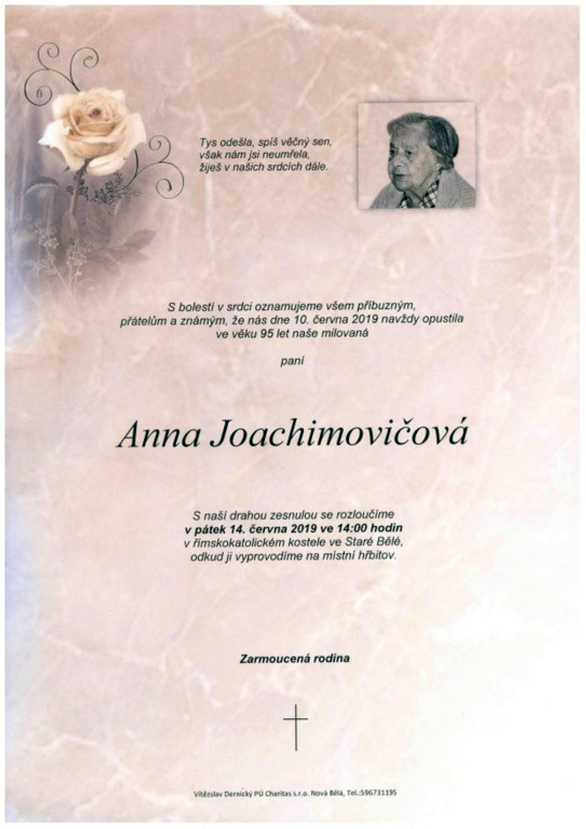Anna Joachimovičová