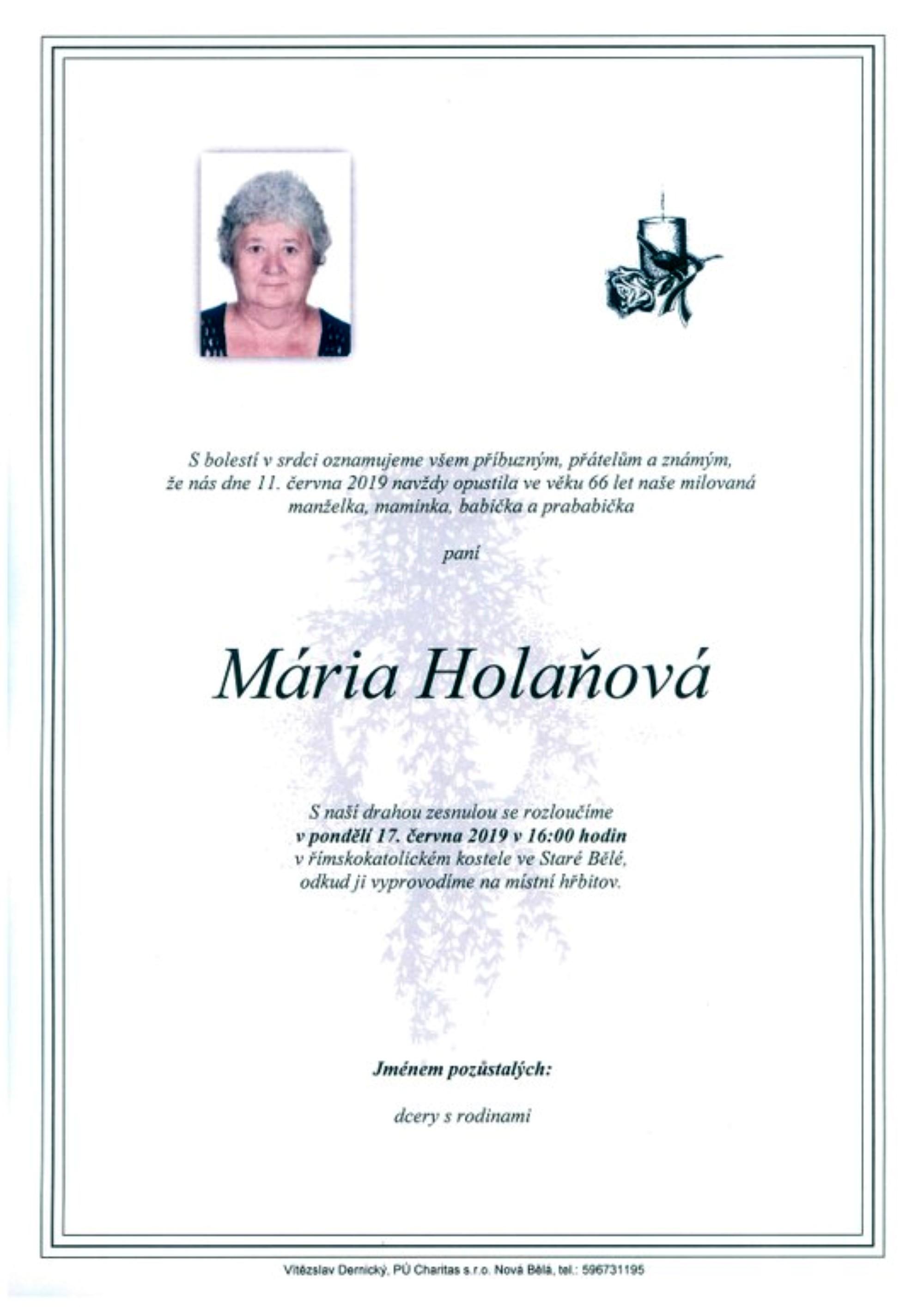 Mária Holaňová