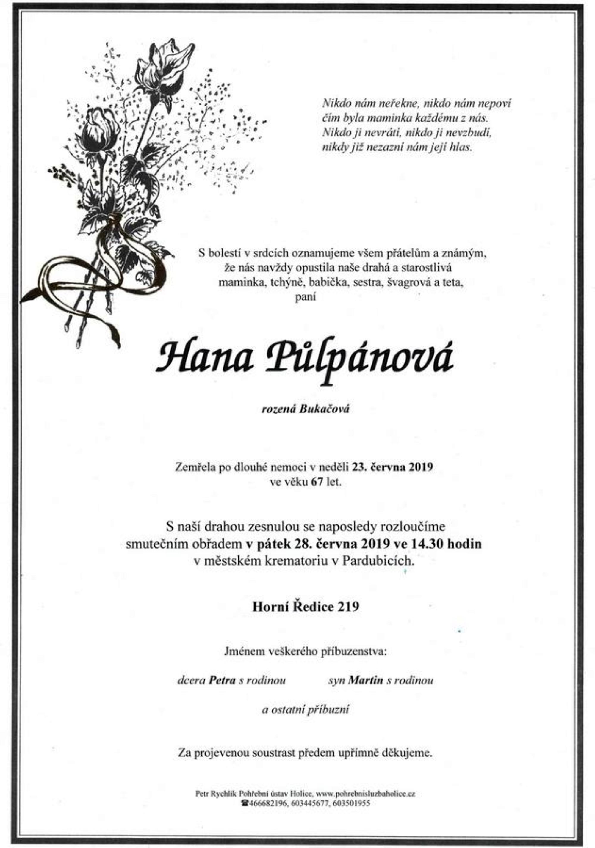 Hana Půlpánová