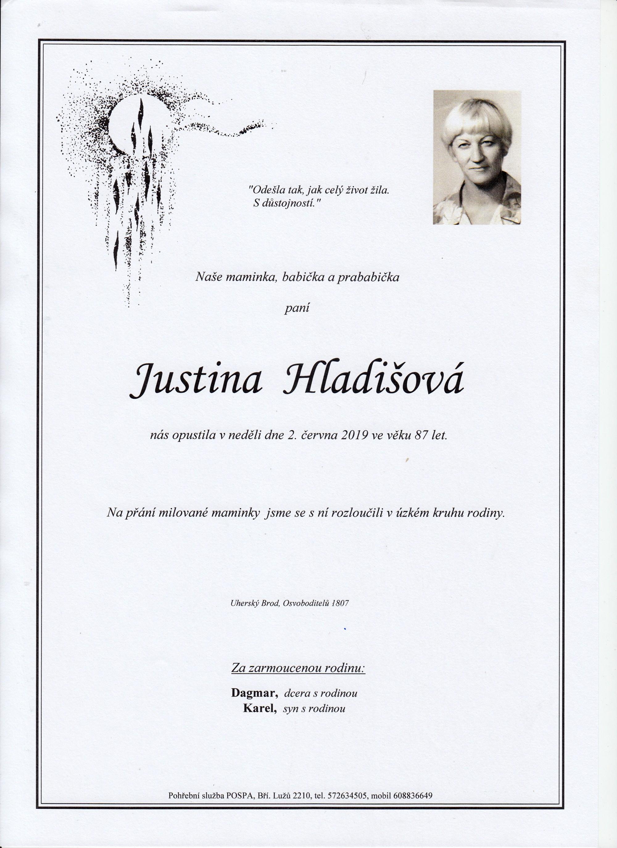 Justina Hladišová