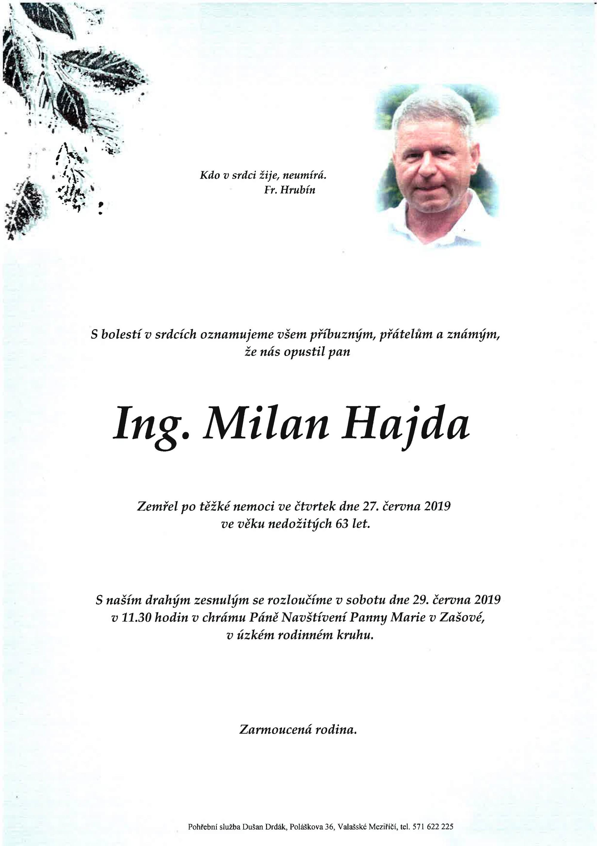 Ing. Milan Hajda