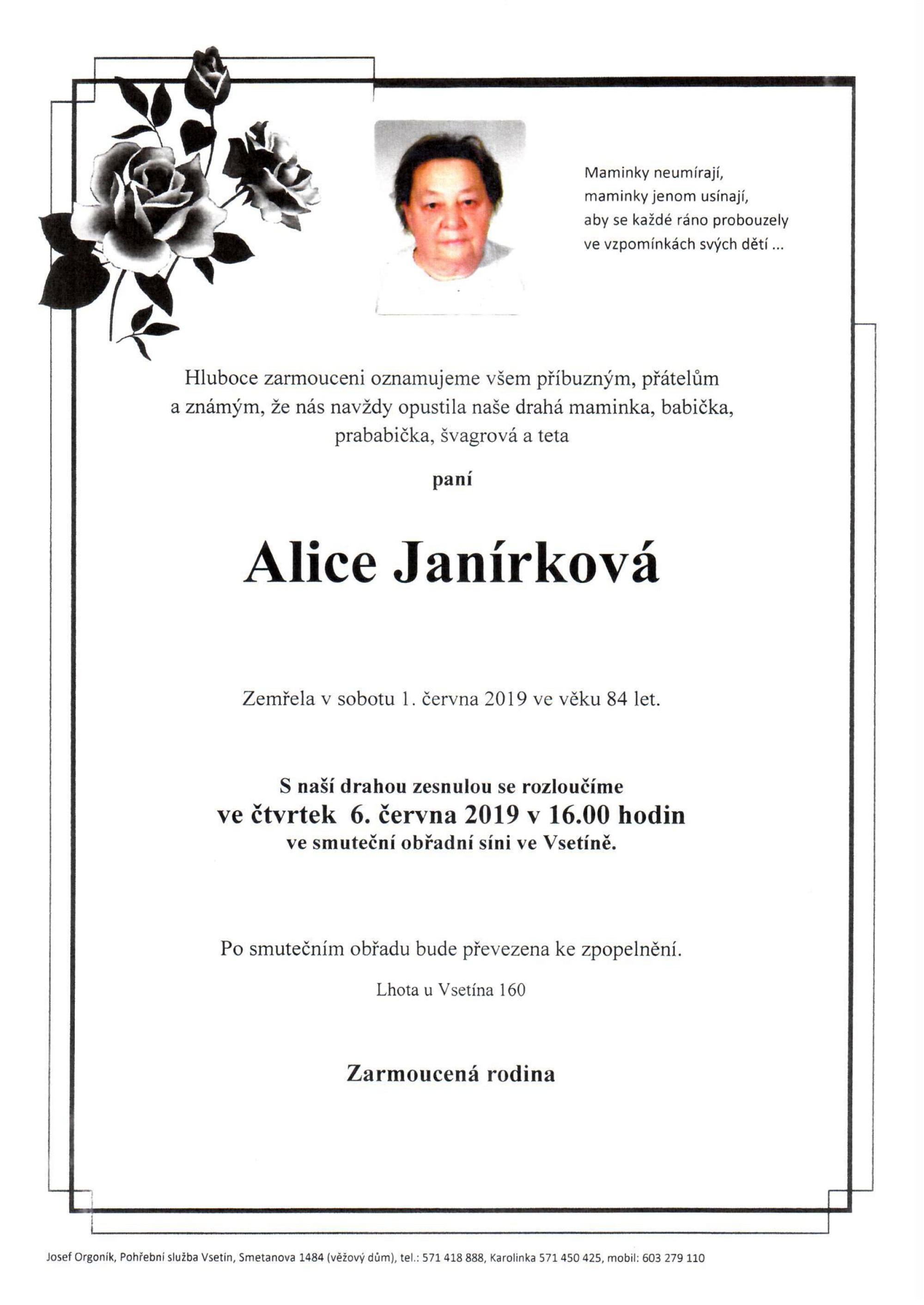 Alice Janírková