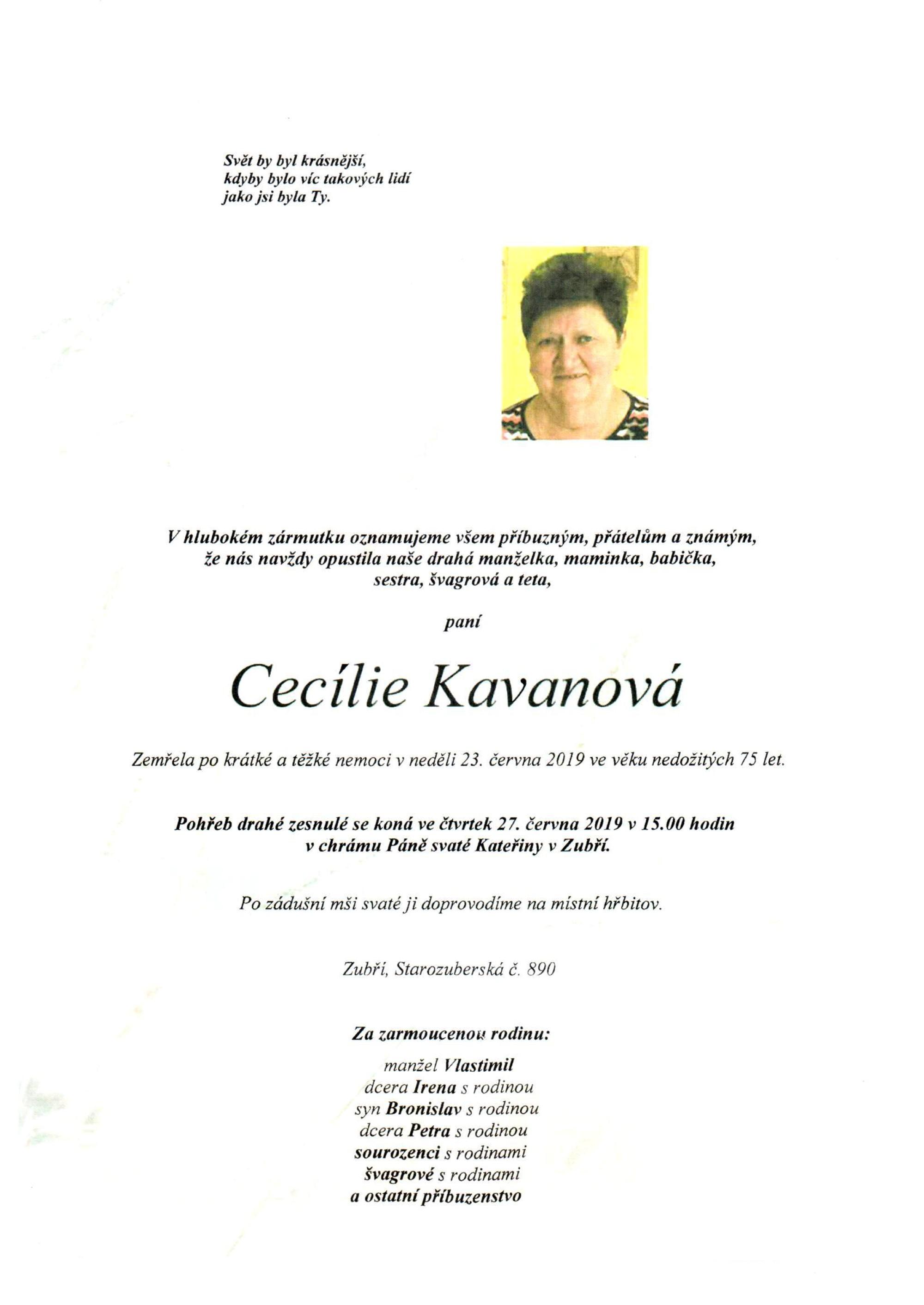 Cecílie Kavanová