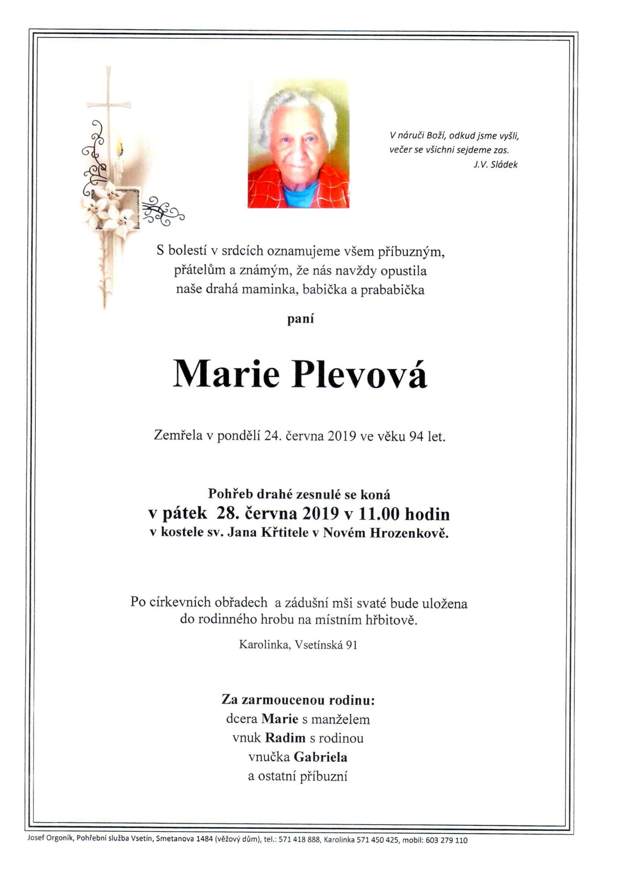 Marie Plevová