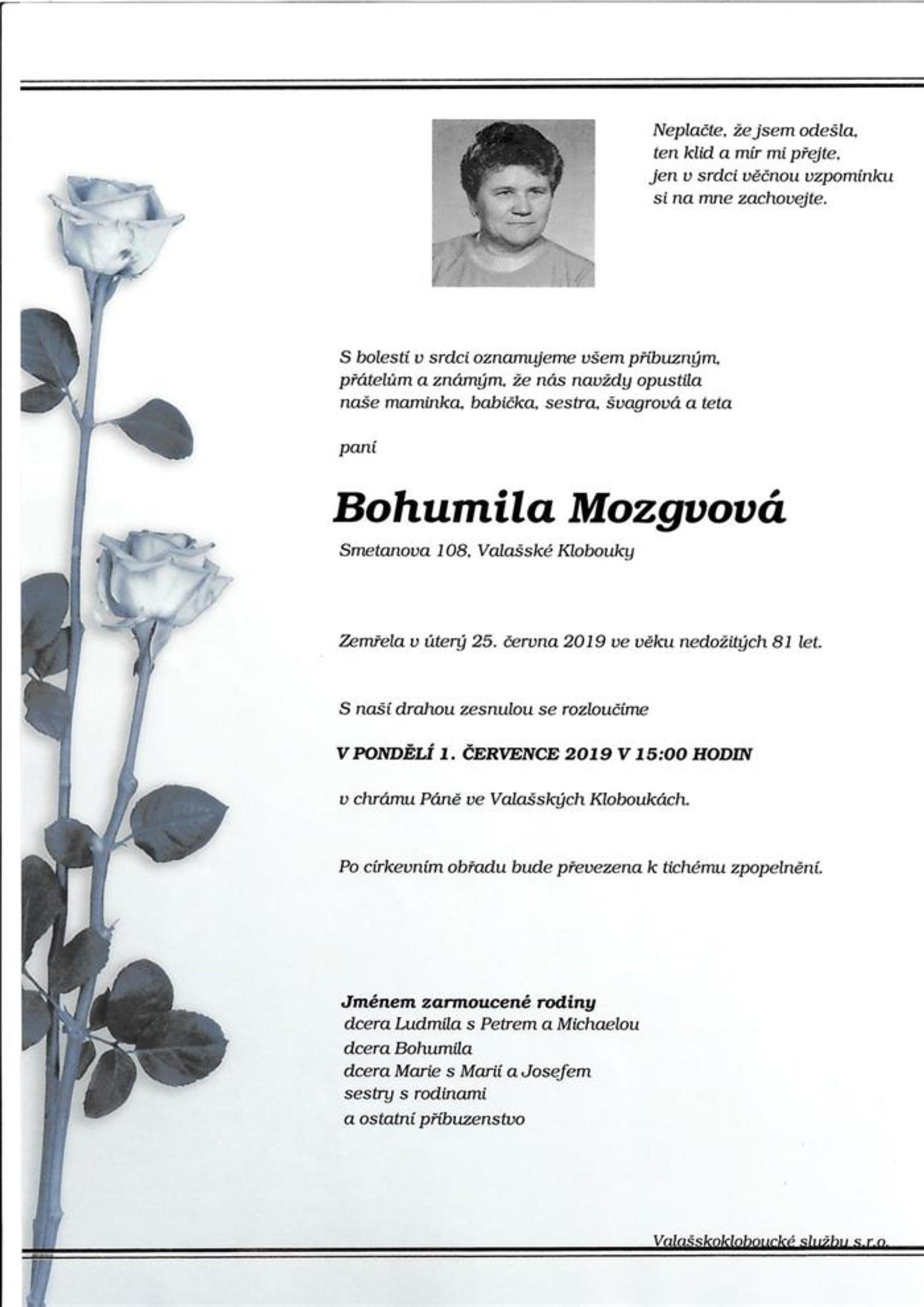 Bohumila Mozgvová