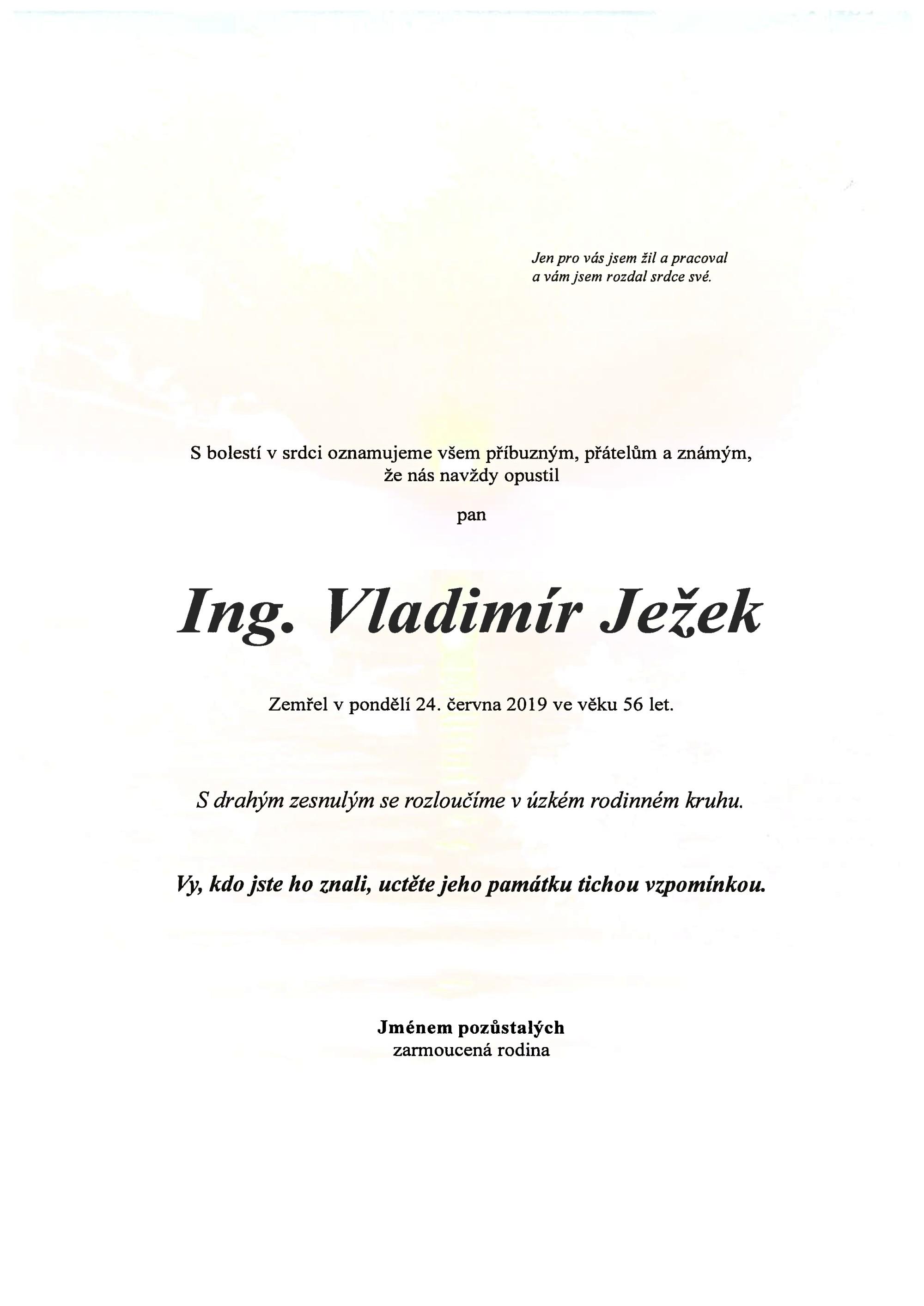 Ing. Vladimír Ježek