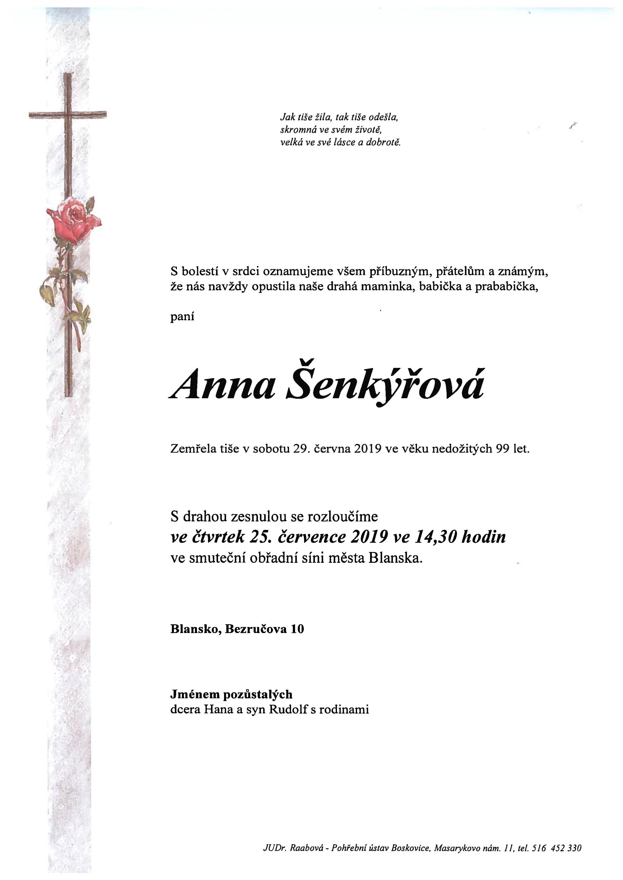 Anna Šenkýřová
