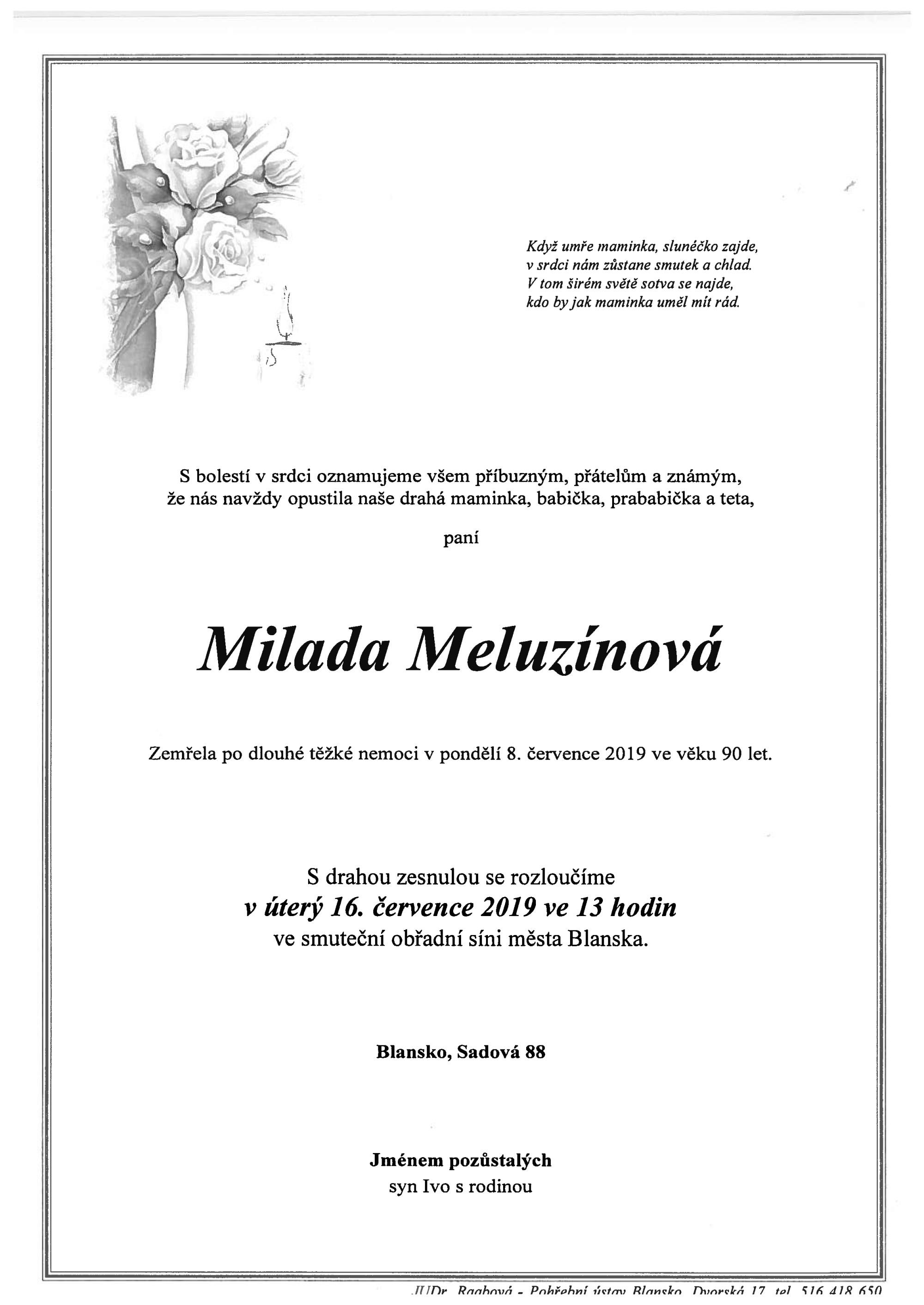 Milada Meluzínová