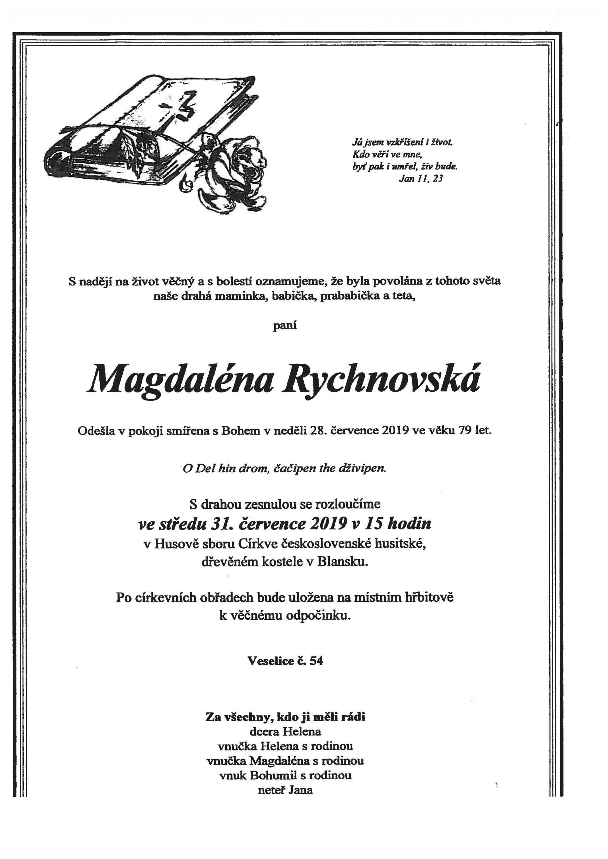 Magdaléna Rychnovská