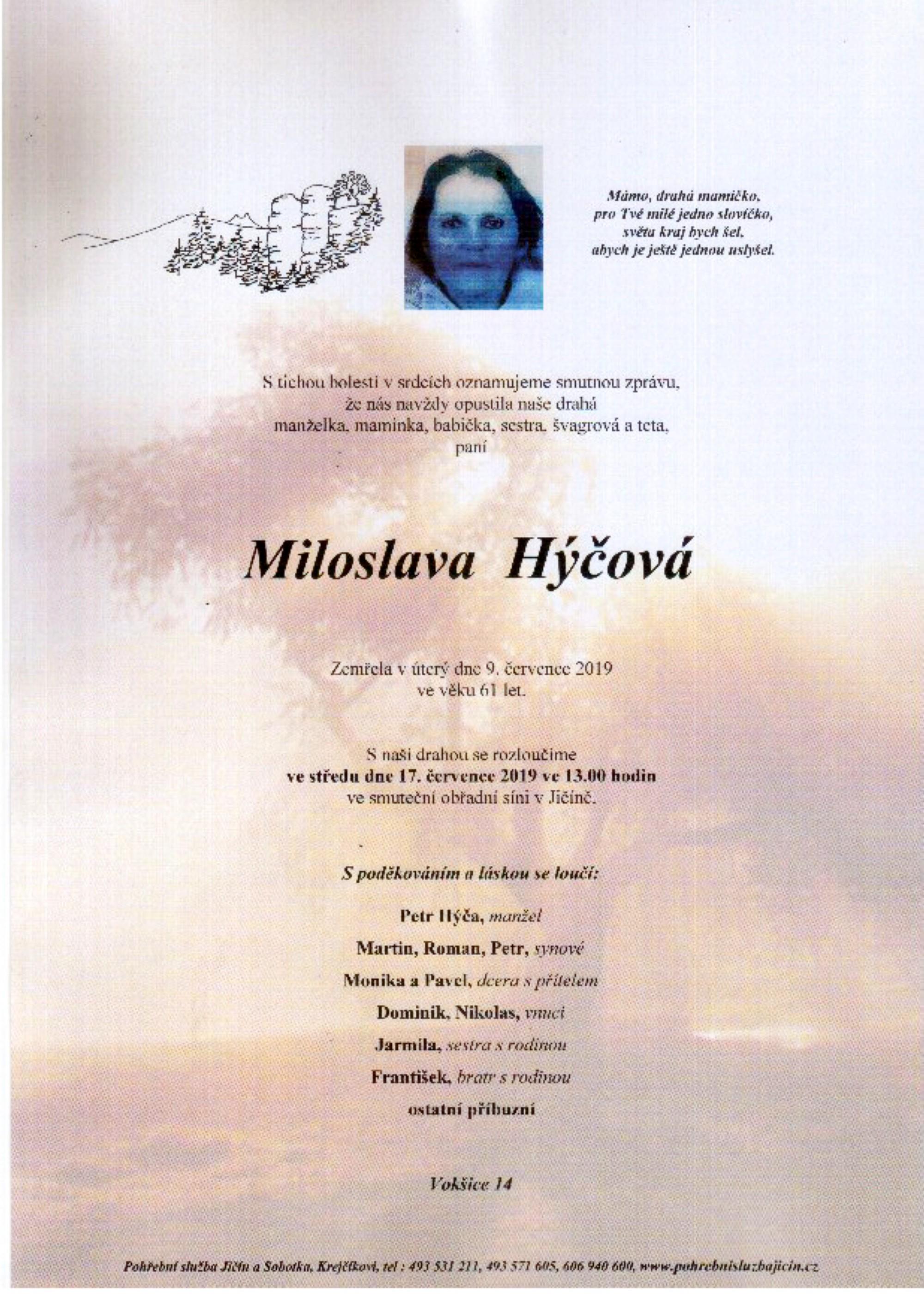 Miloslava Hýčová