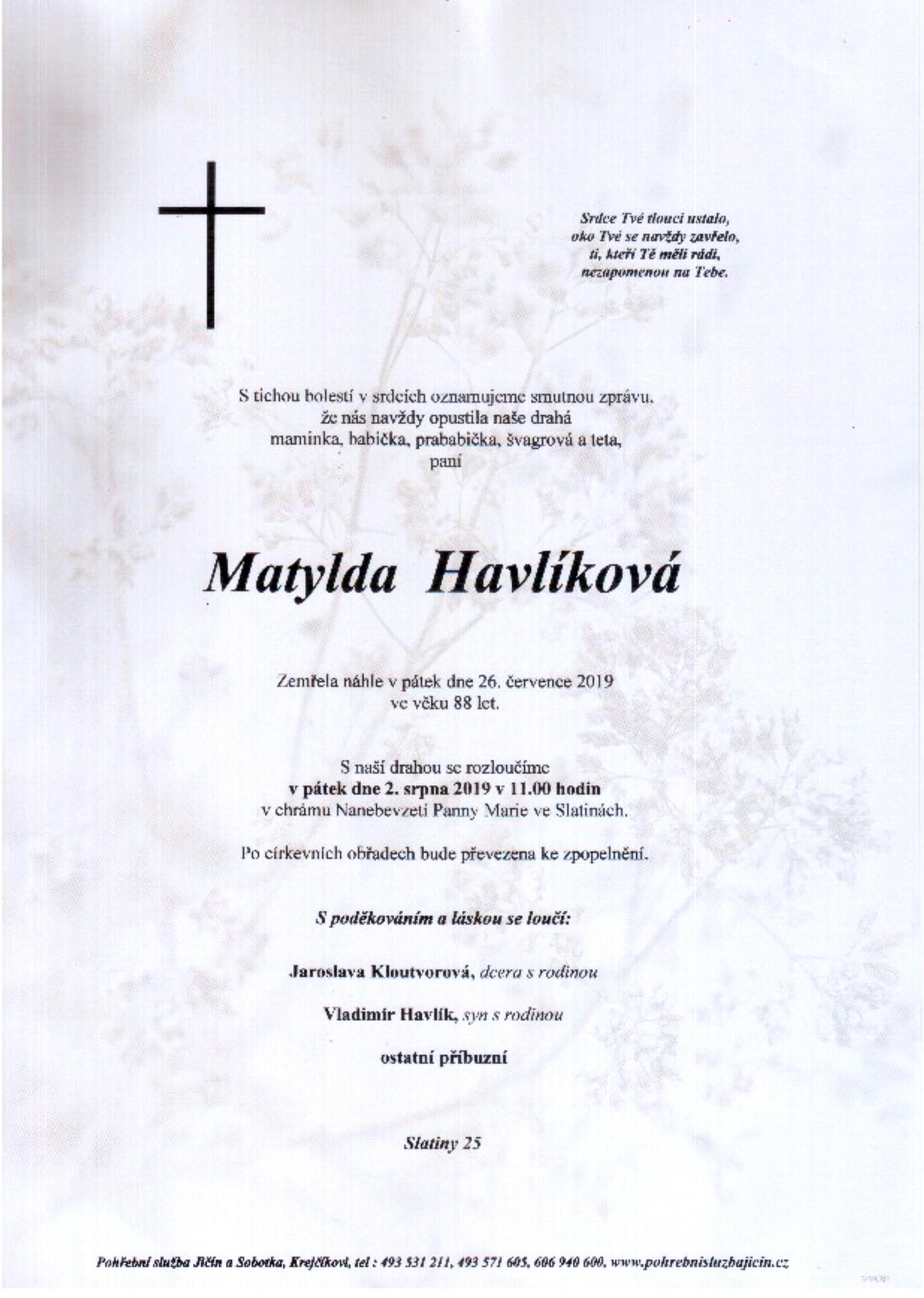 Matylda Havlíková