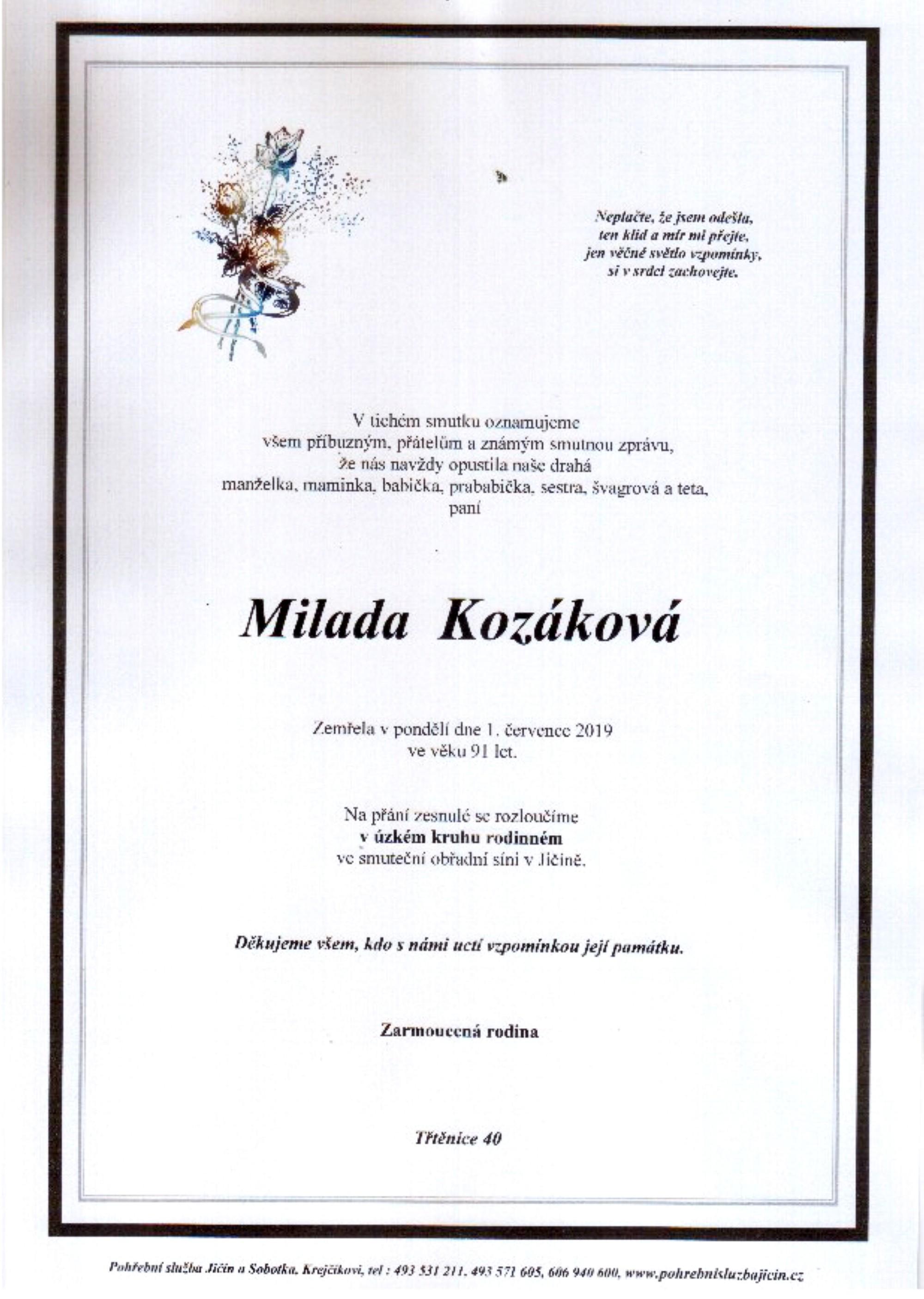 Milada Kozáková