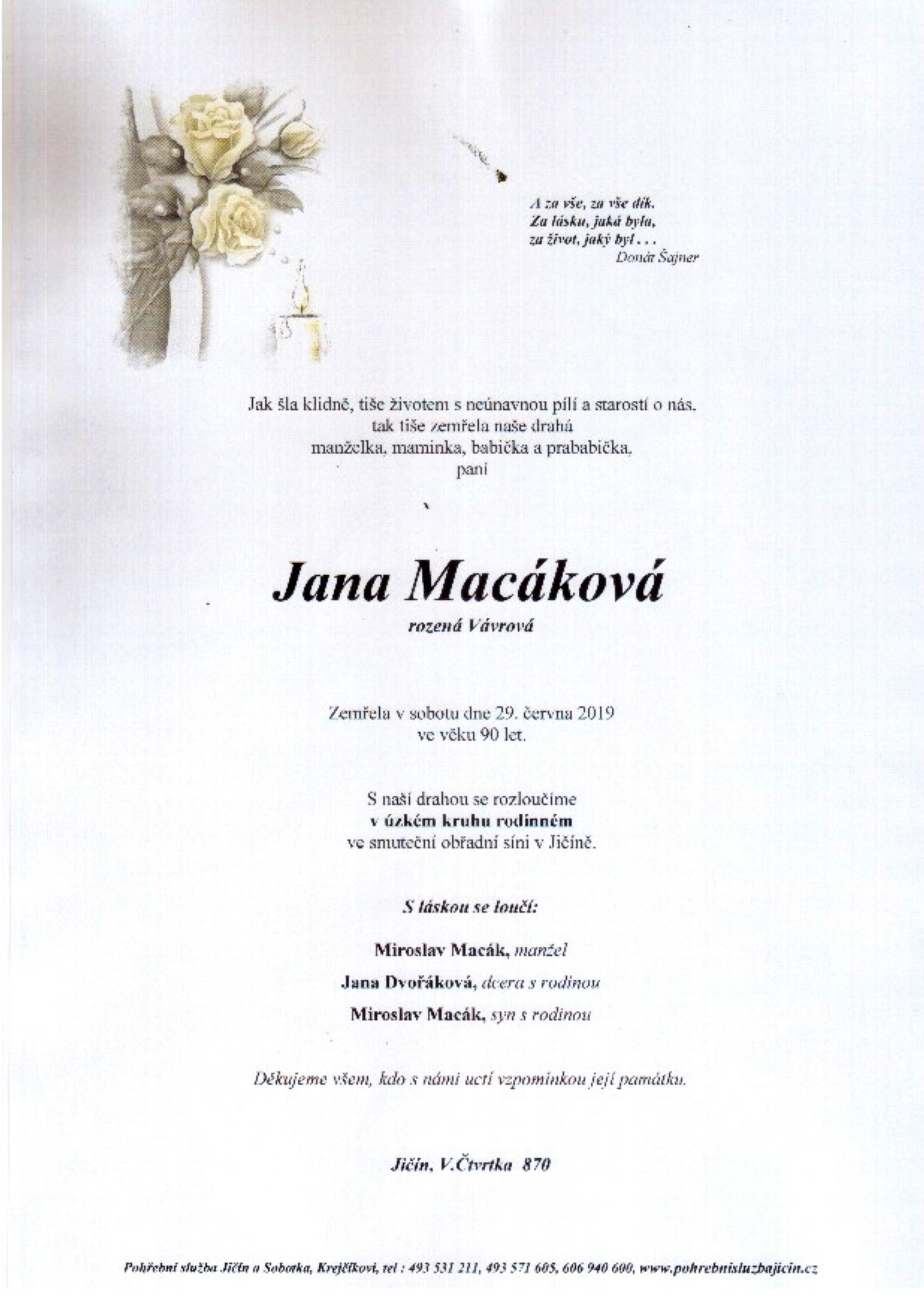 Jana Macáková