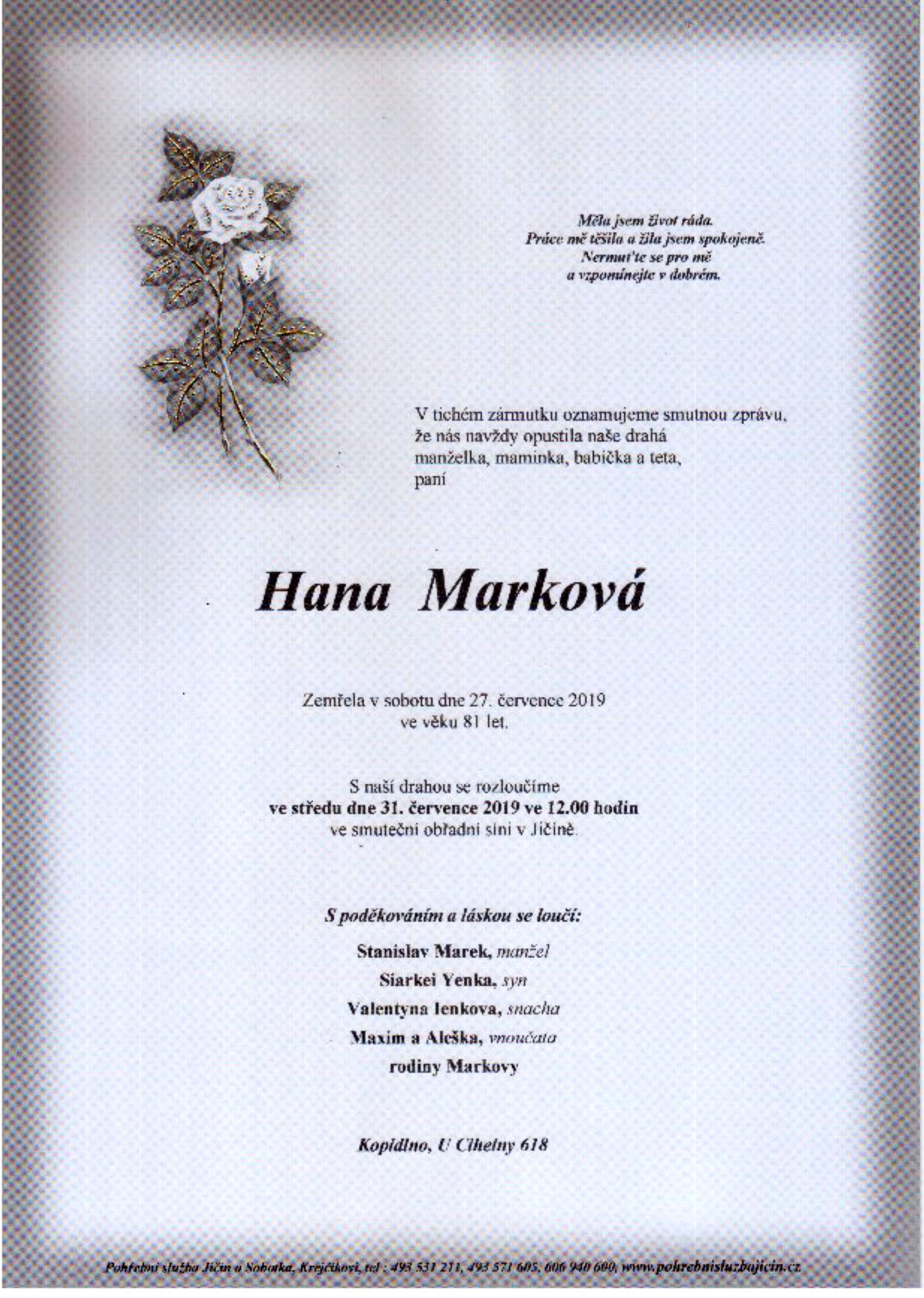 Hana Marková