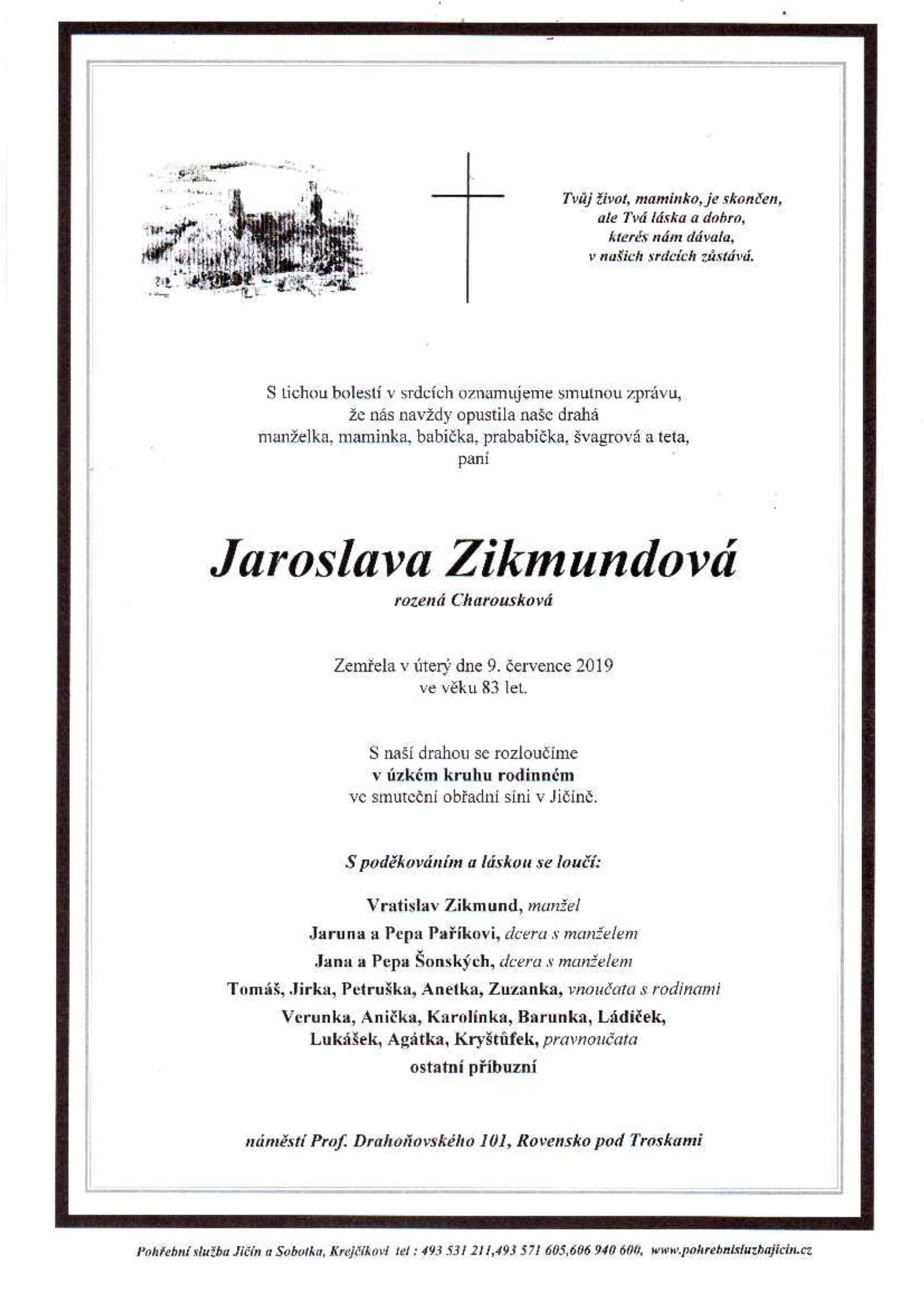 Jaroslava Zikmundová