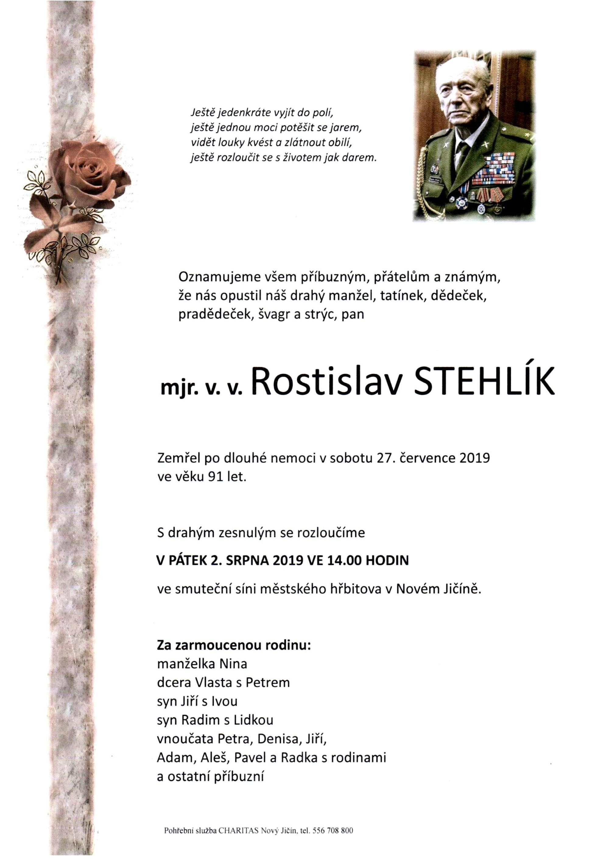 mjr. v. v. Rostislav Stehlík