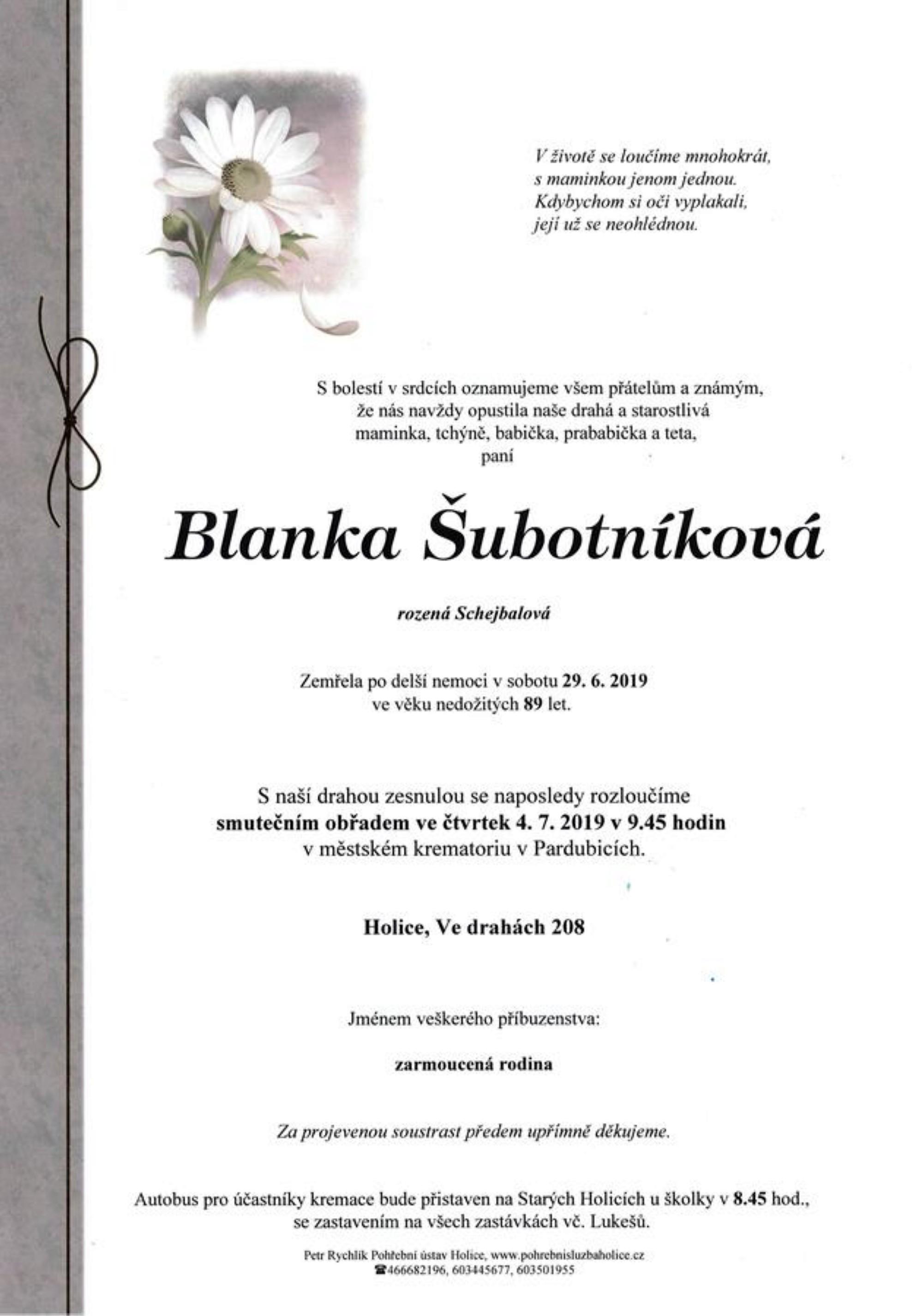 Blanka Šubotníková