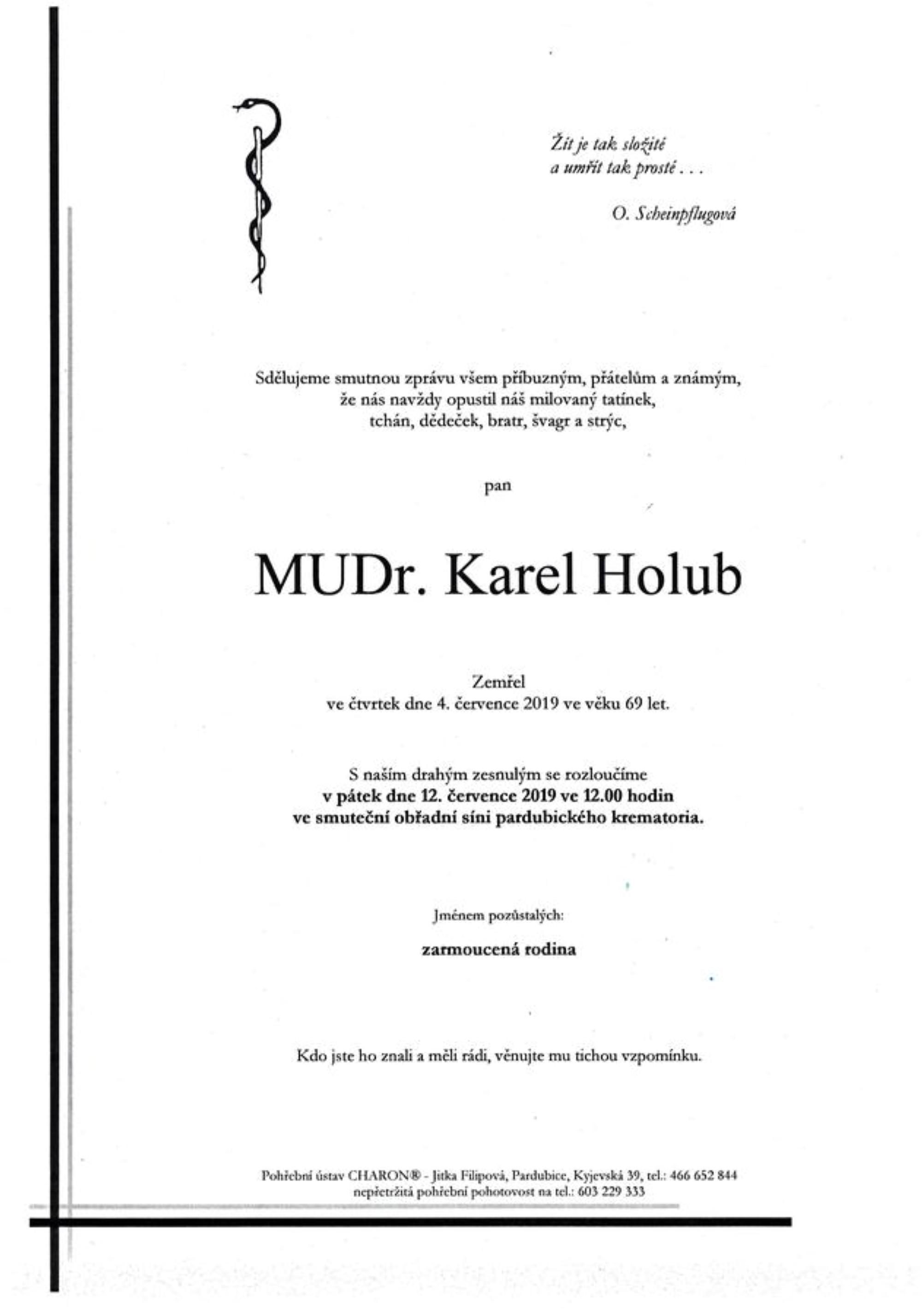 MUDr. Karel Holub