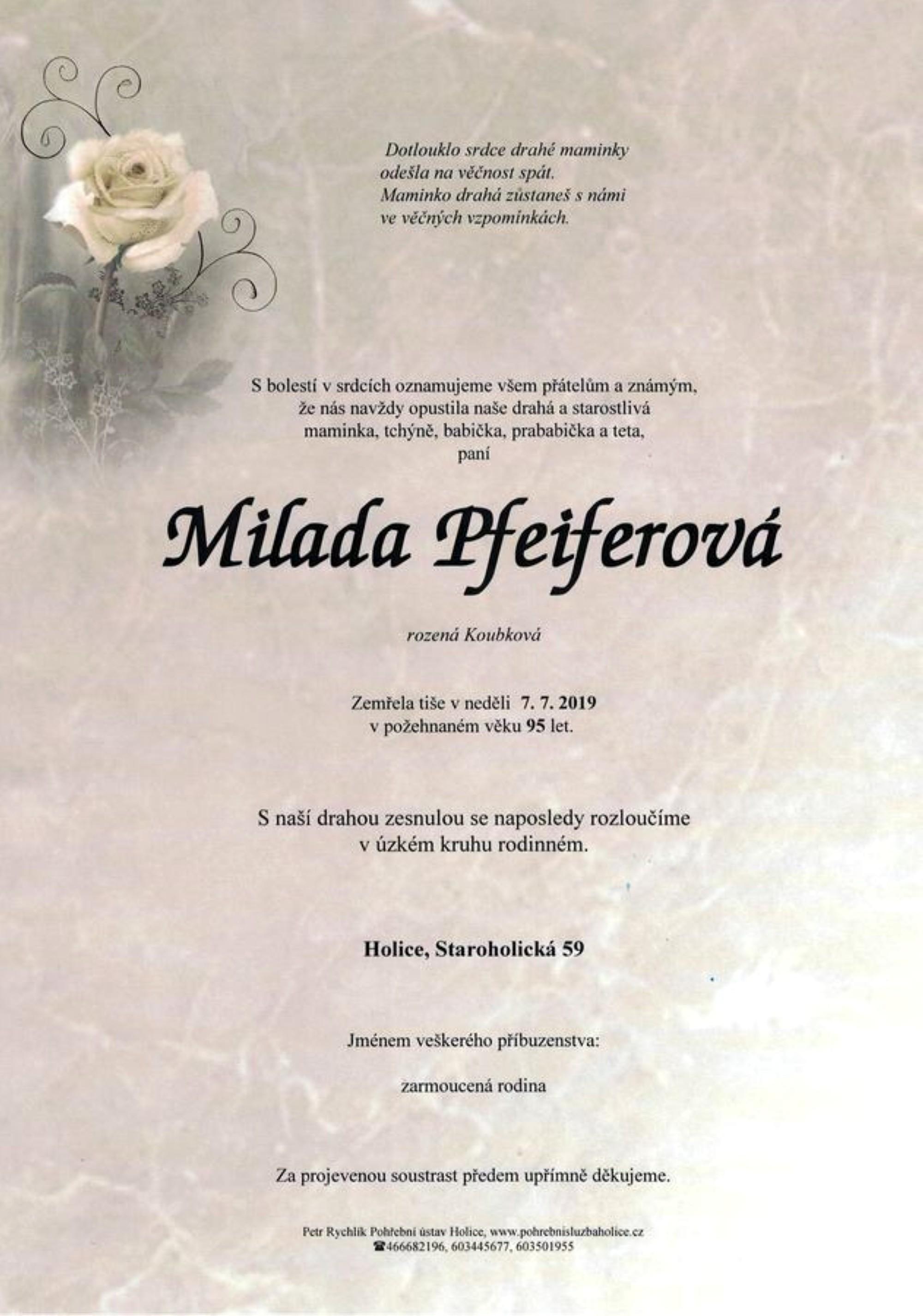 Milada Pfeiferová