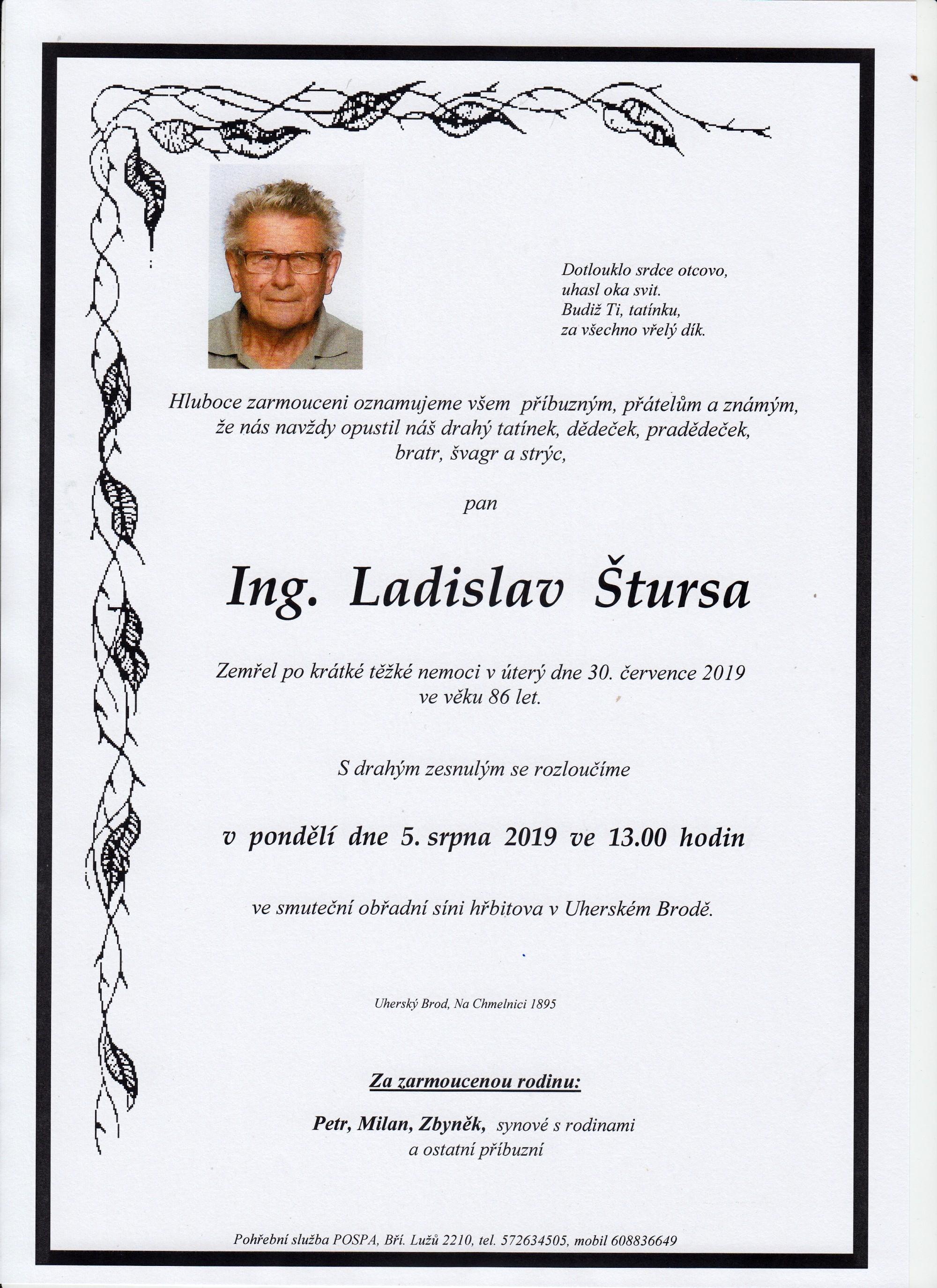 Ing. Ladislav Štursa