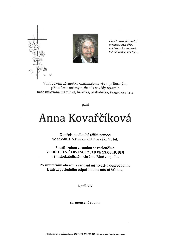 Anna Kovařčíková