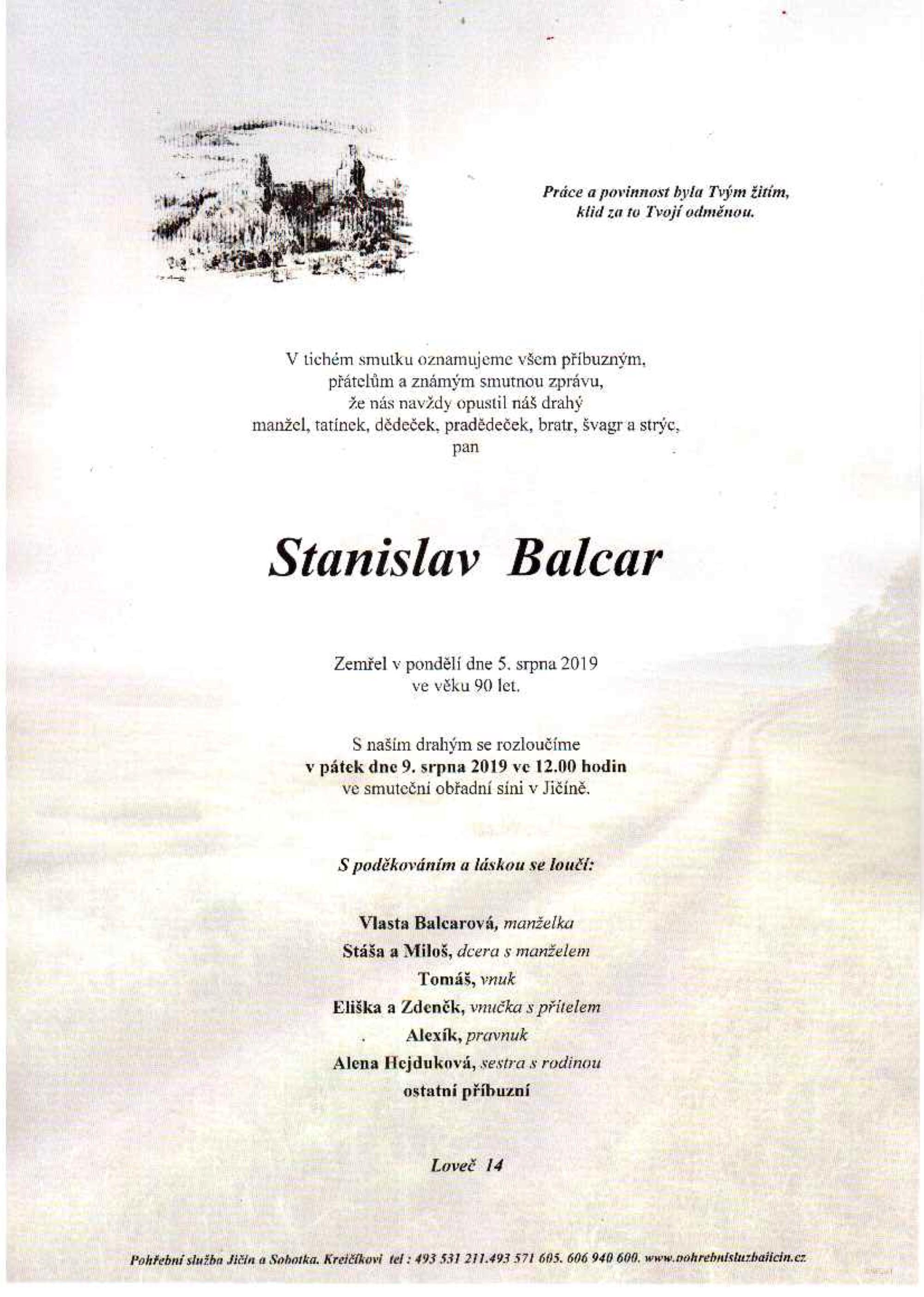 Stanislav Balcar