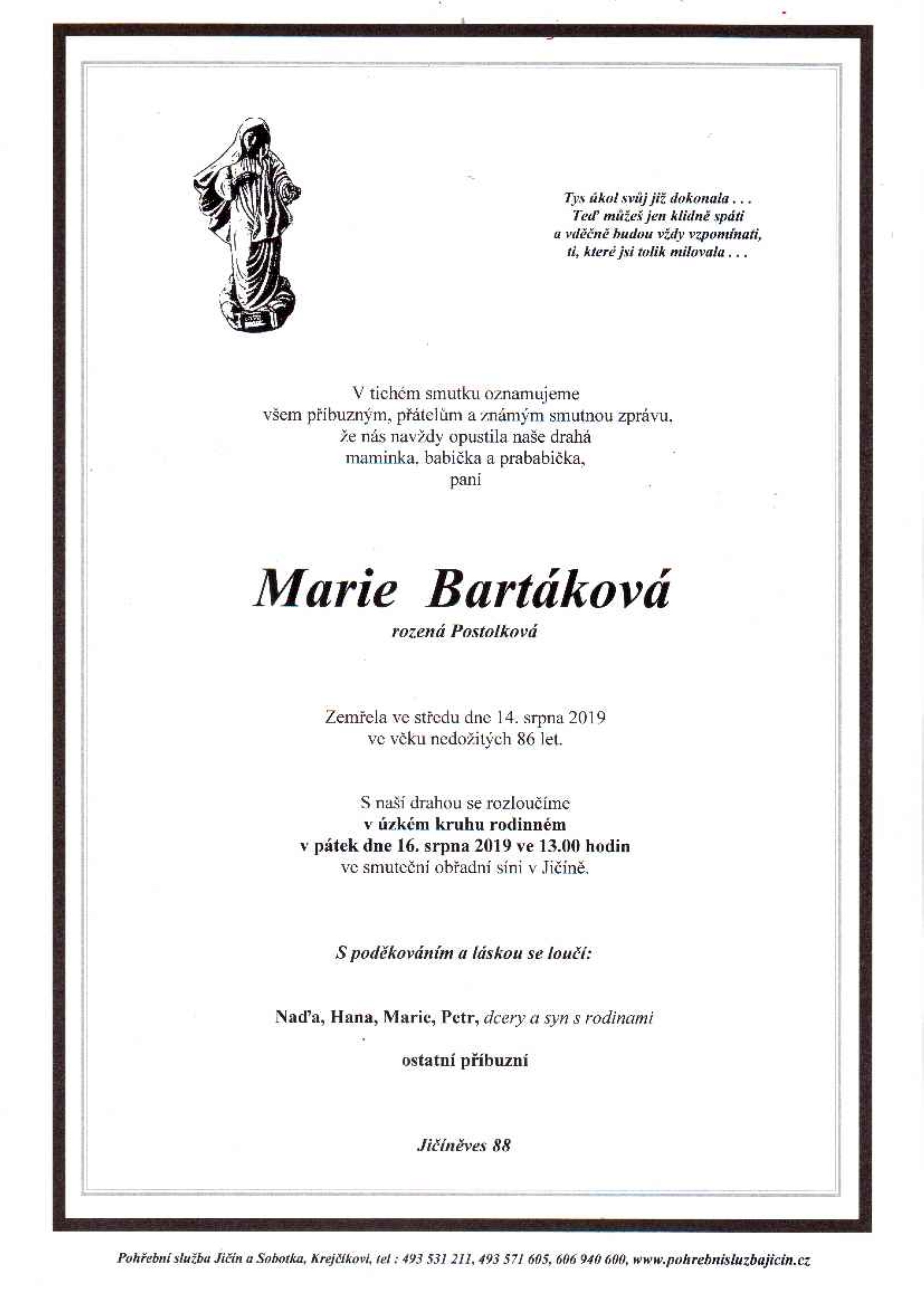 Marie Bartáková