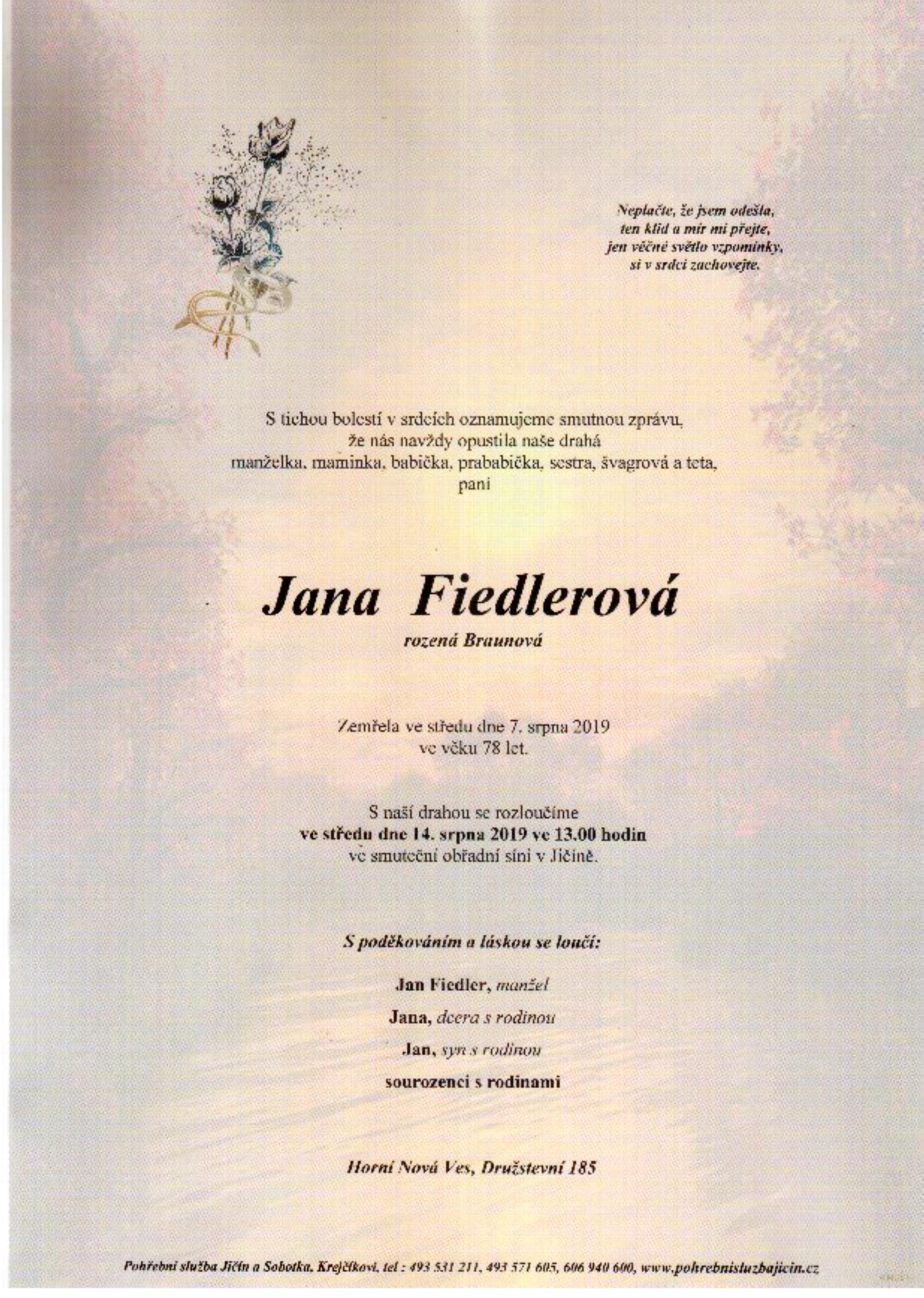 Jana Fiedlerová