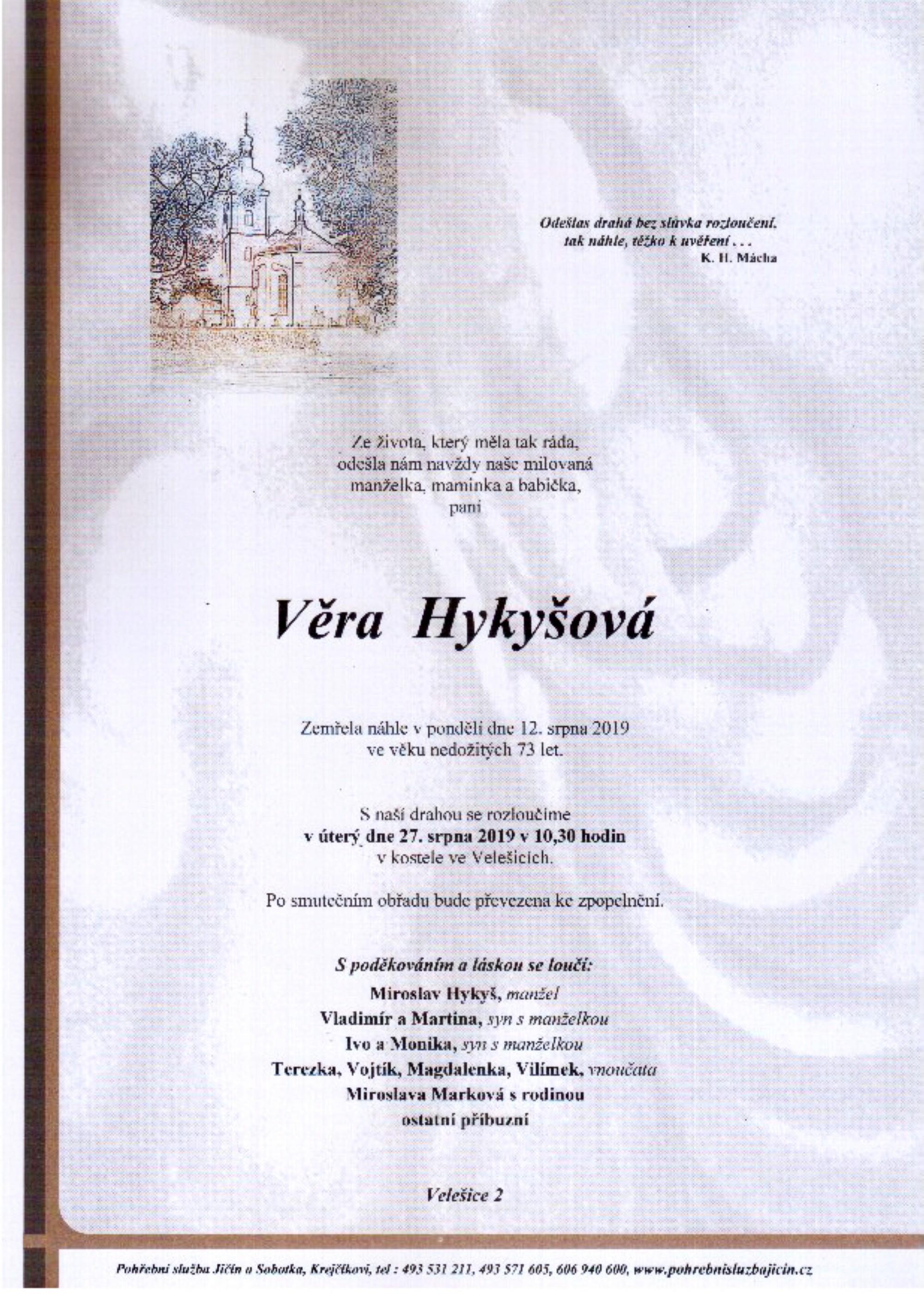 Věra Hykyšová