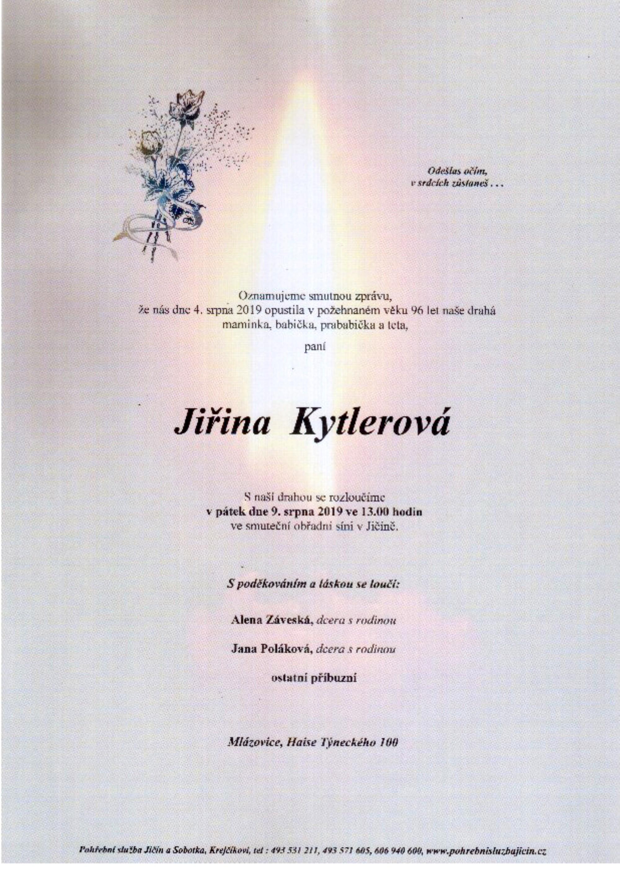 Jiřina Kytlerová