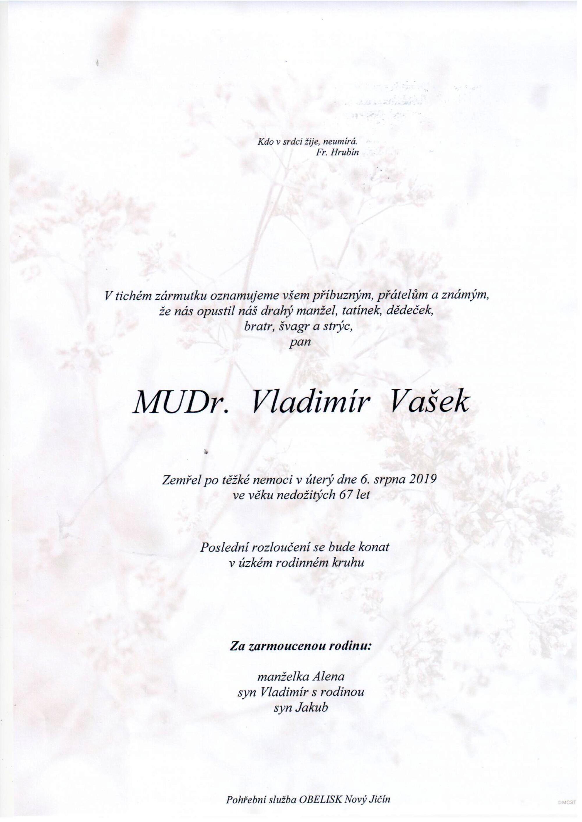 MUDr. Vladimír Vašek