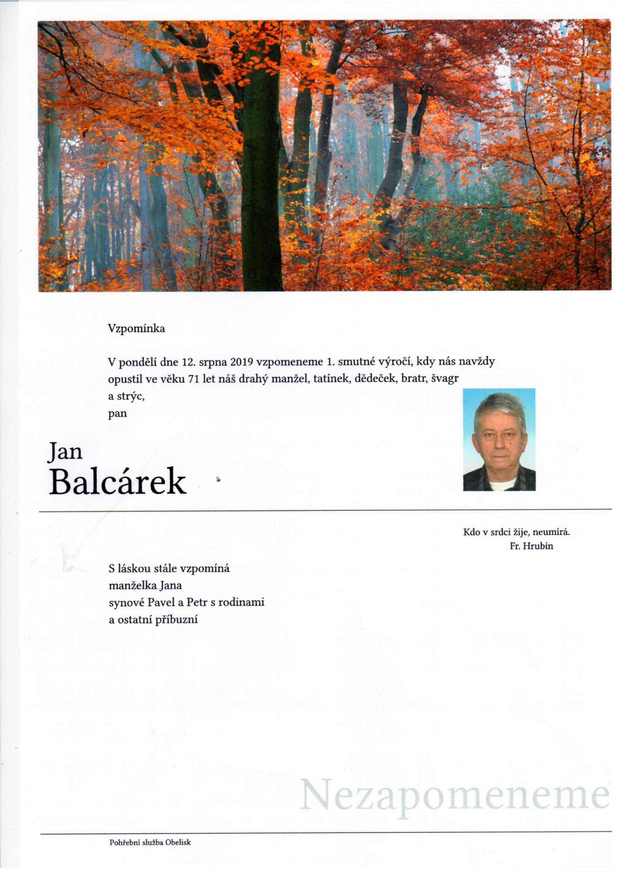 Jan Balcárek