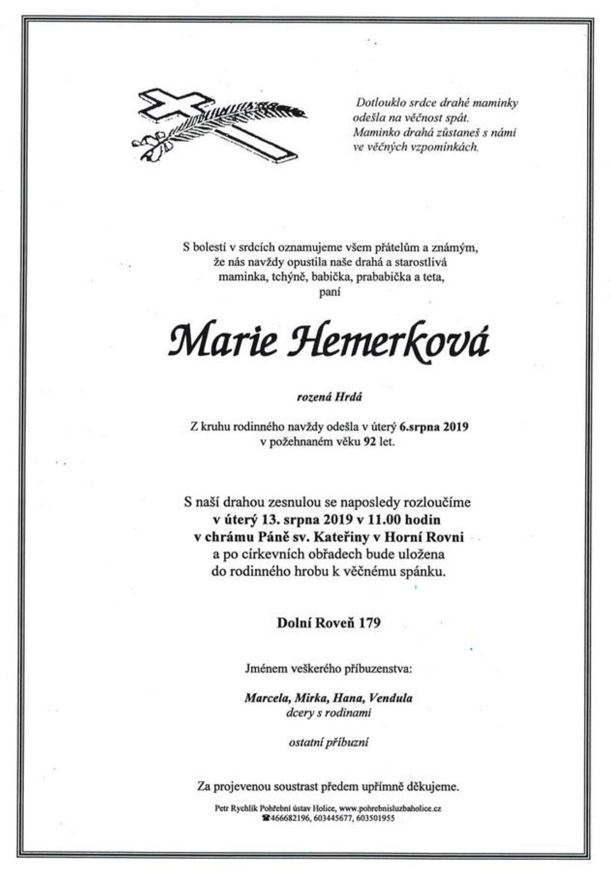 Marie Hemerková