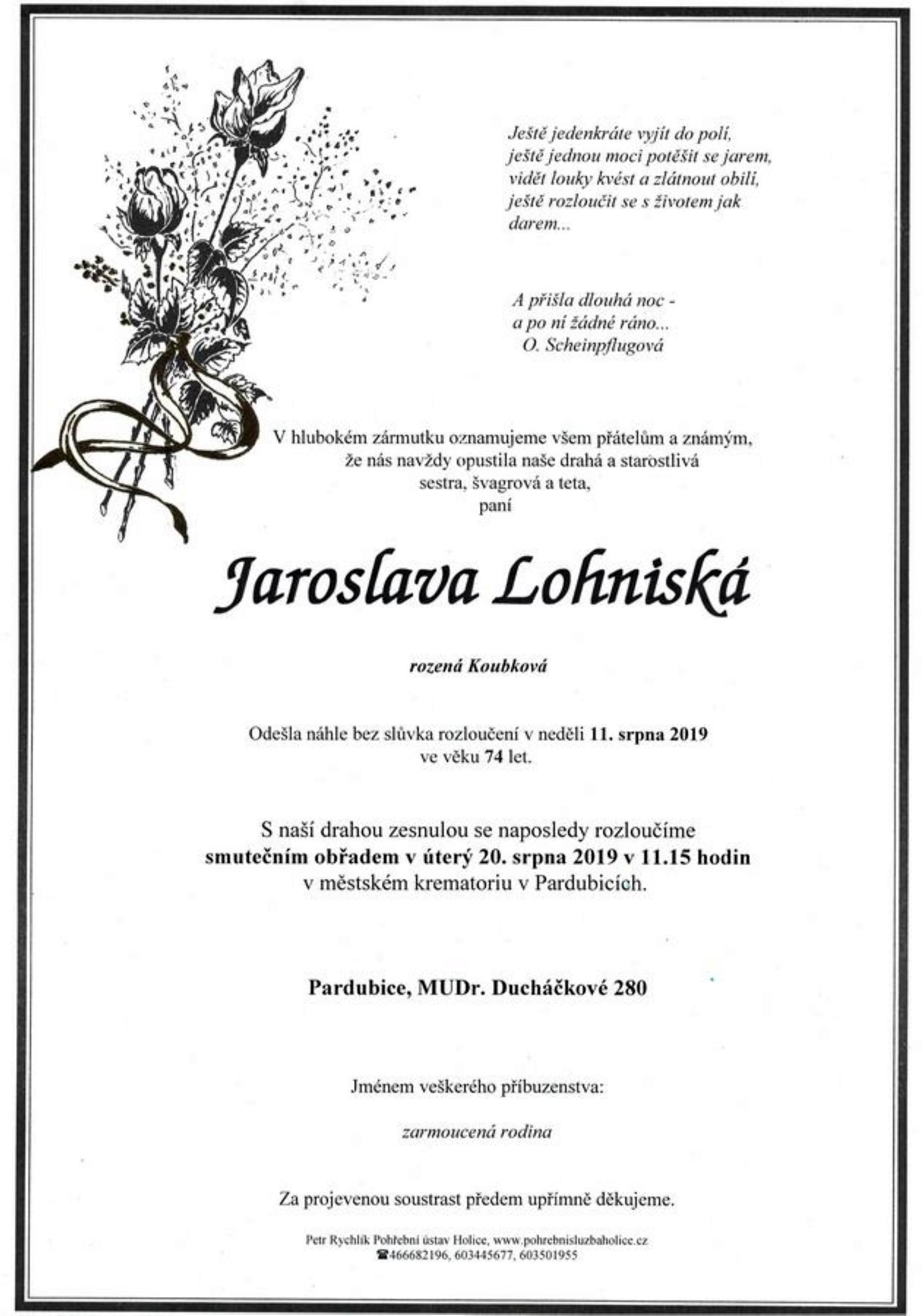 Jaroslava Lohniská