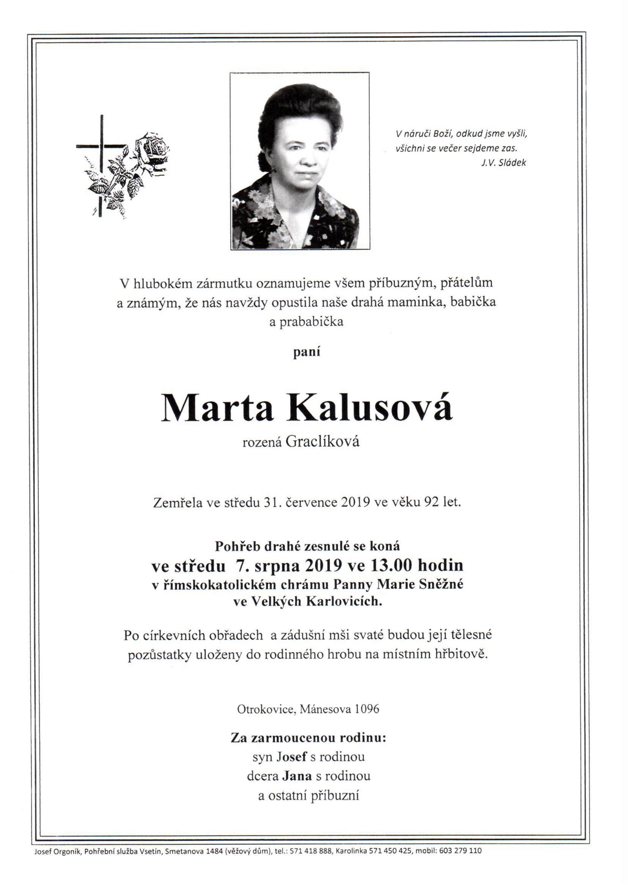 Marta Kalusová