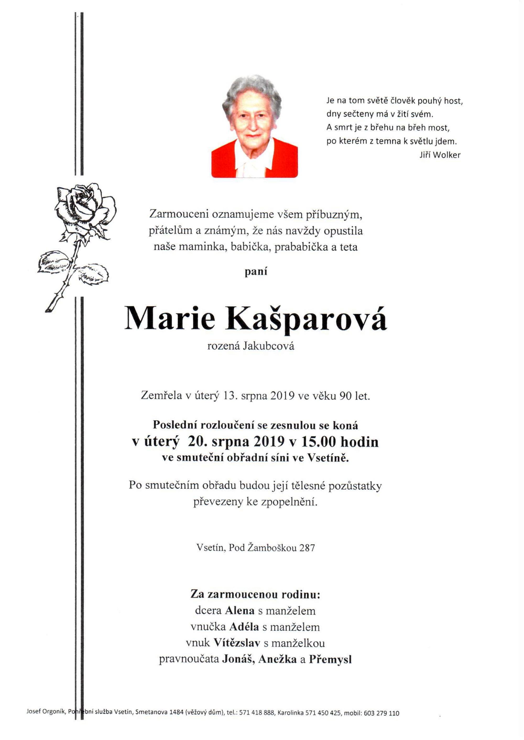 Marie Kašparová