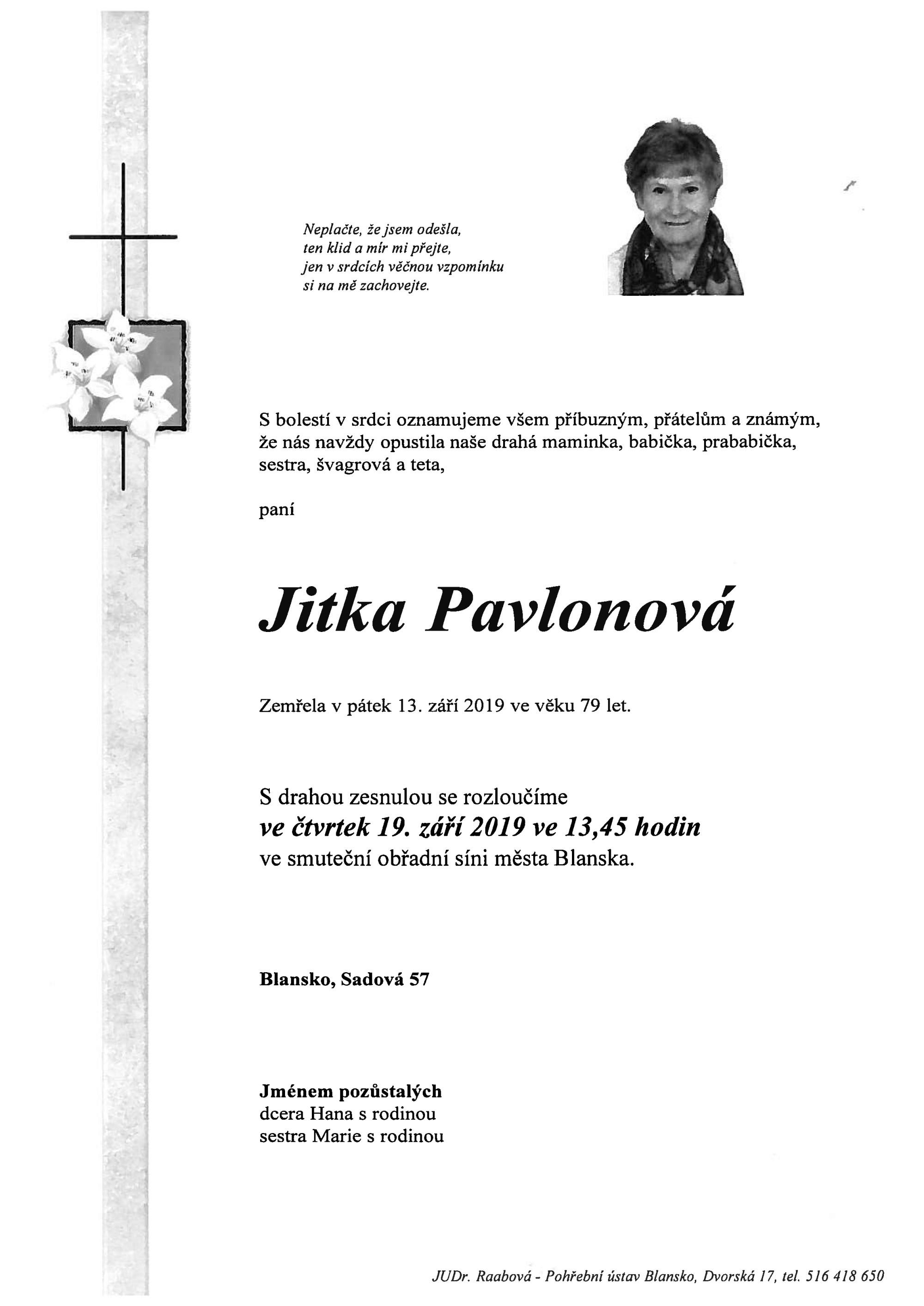 Jitka Pavlonová