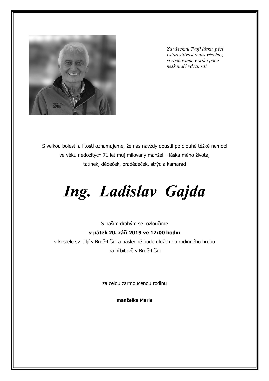 Ing. Ladislav Gajda