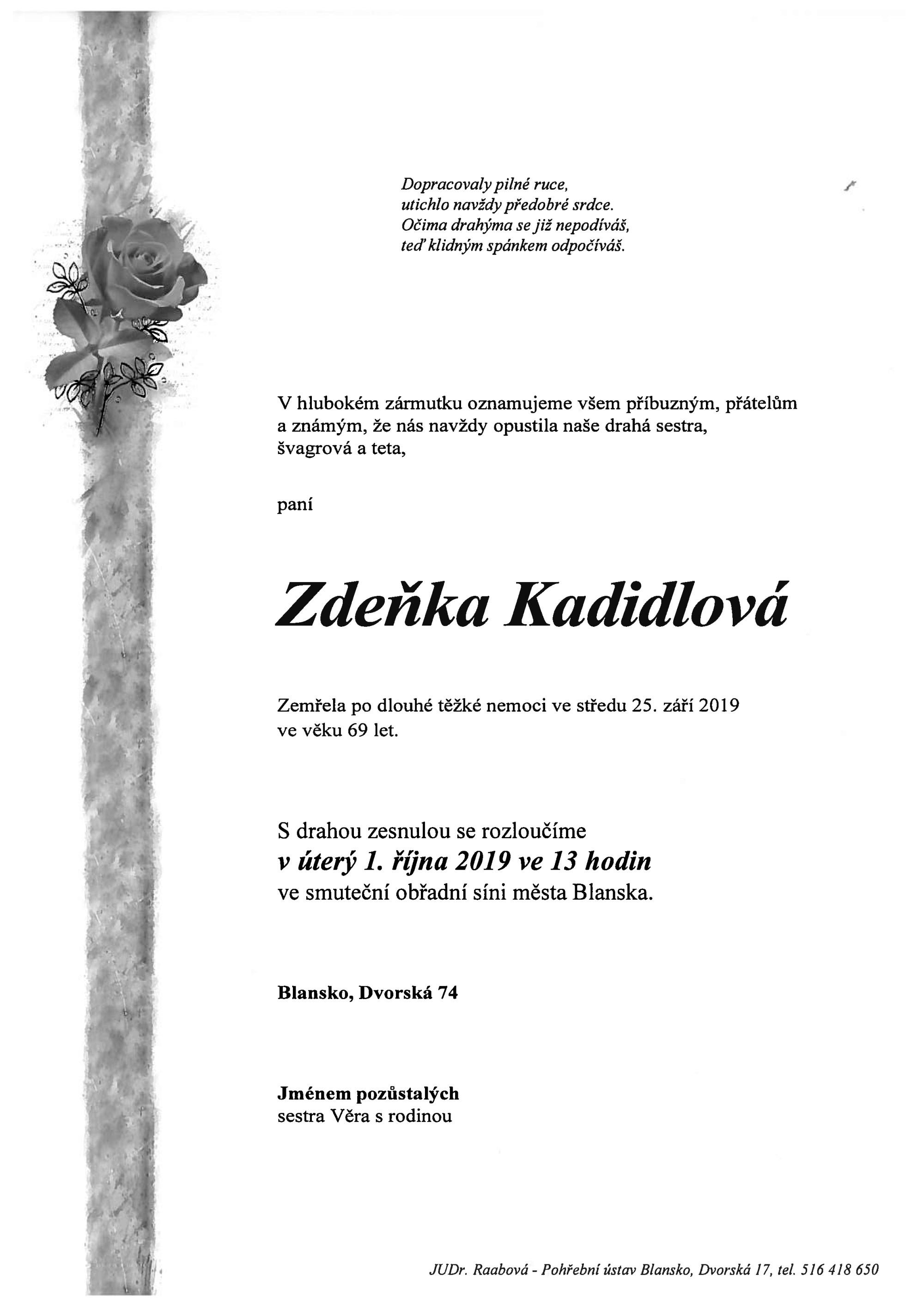 Zdeňka Kadidlová