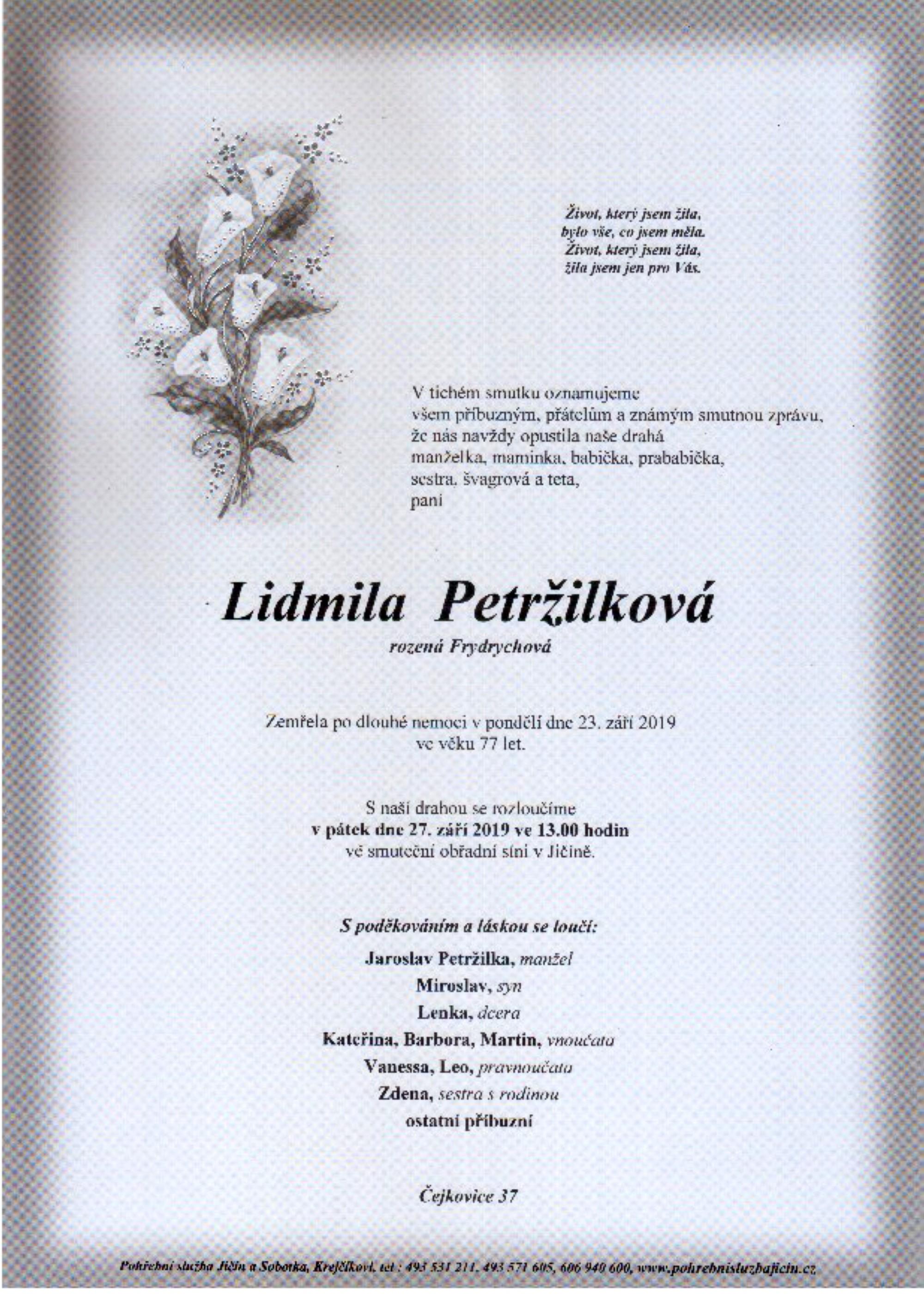 Lidmila Petržilková