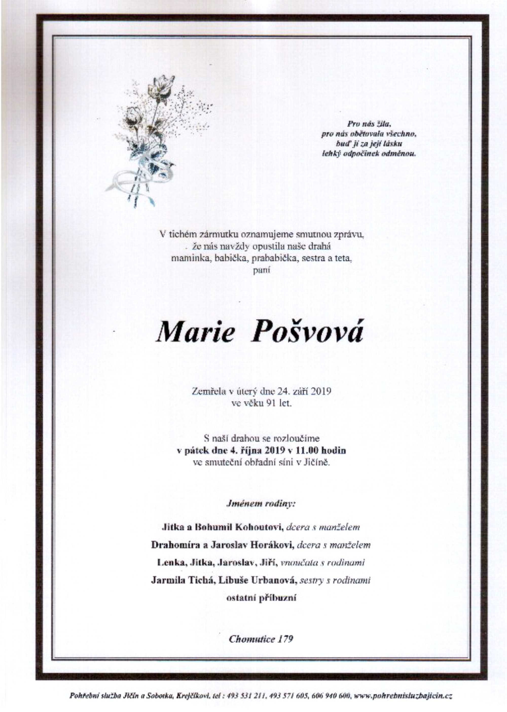 Marie Pošvová