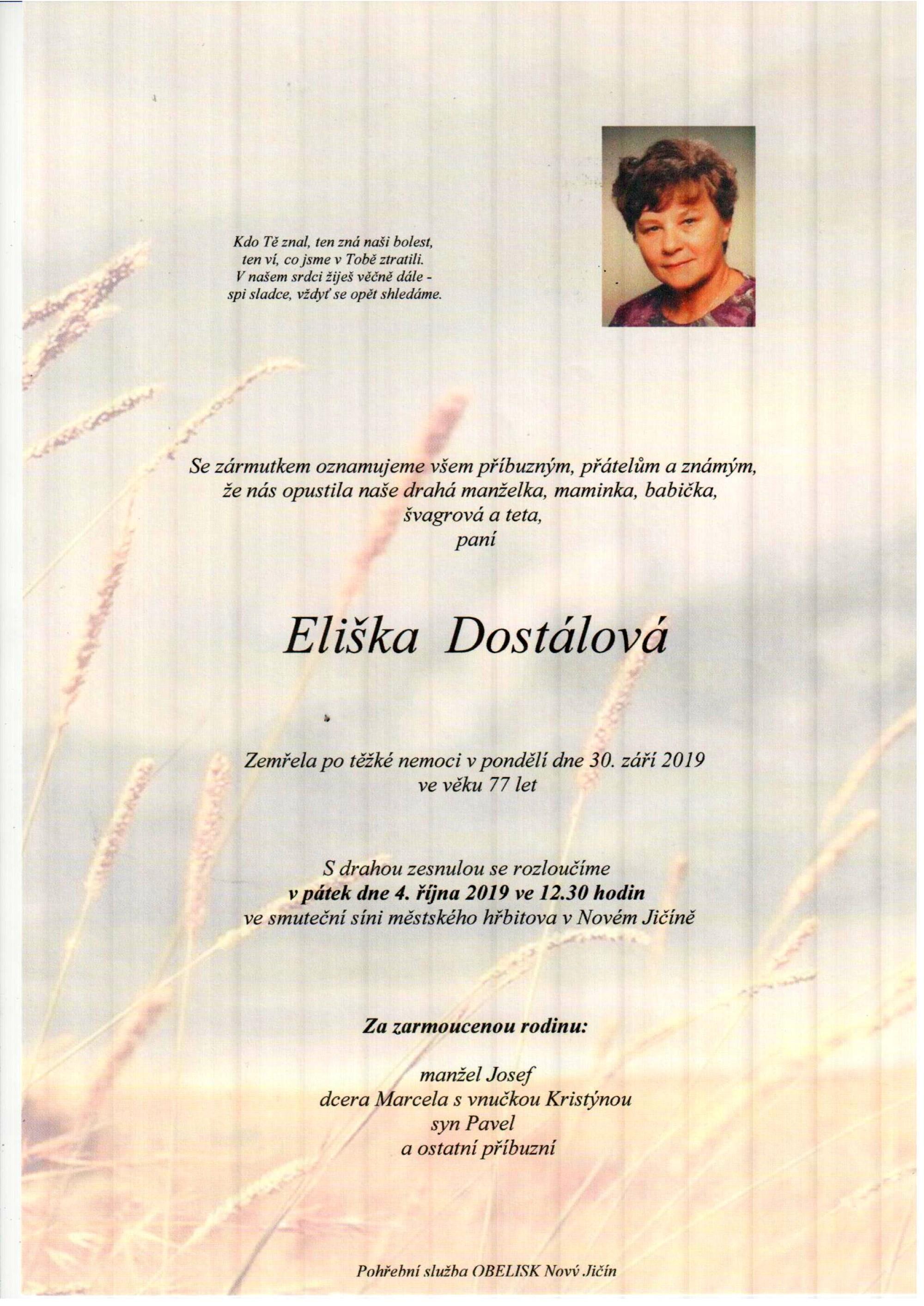 Eliška Dostálová