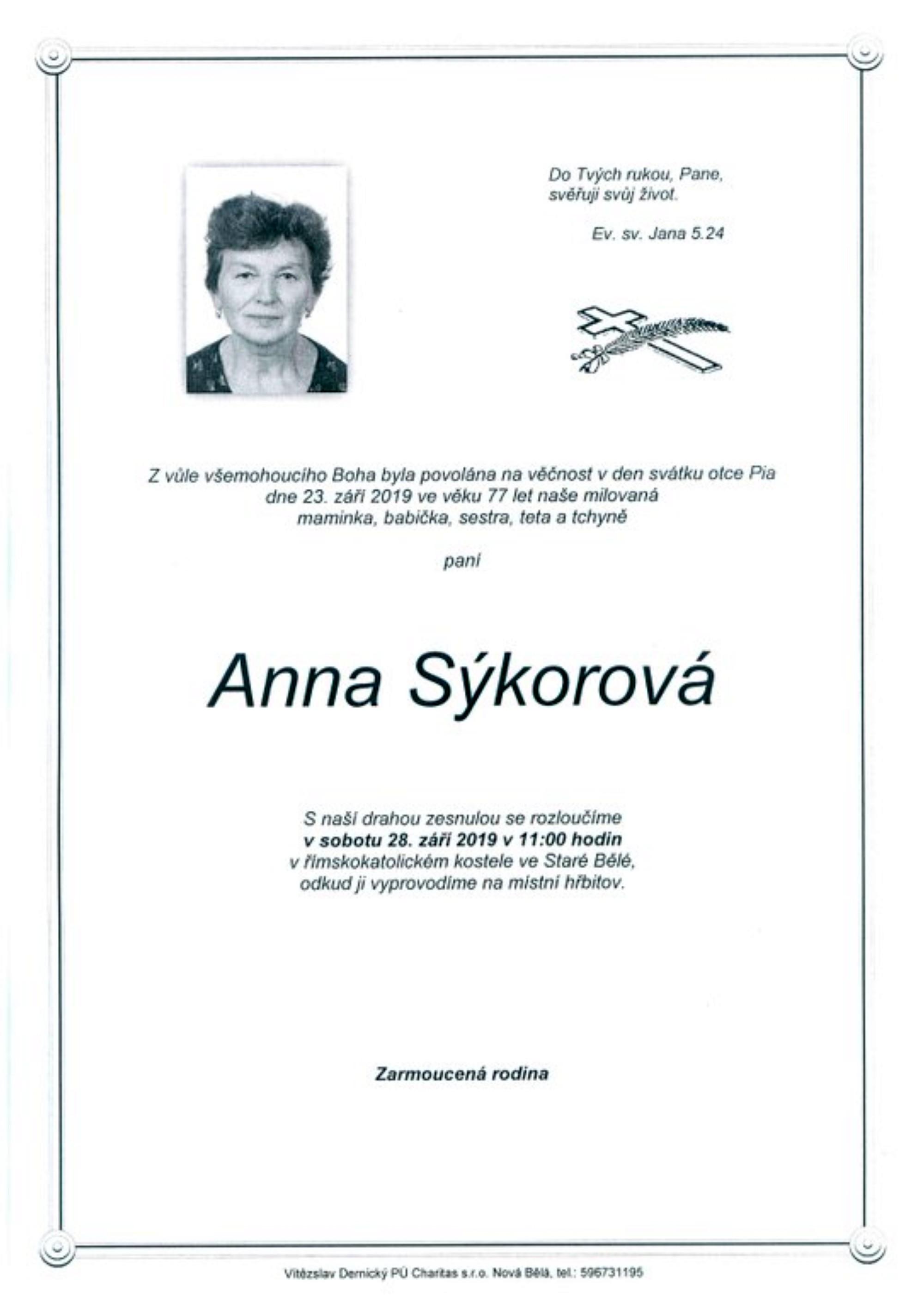 Anna Sýkorová