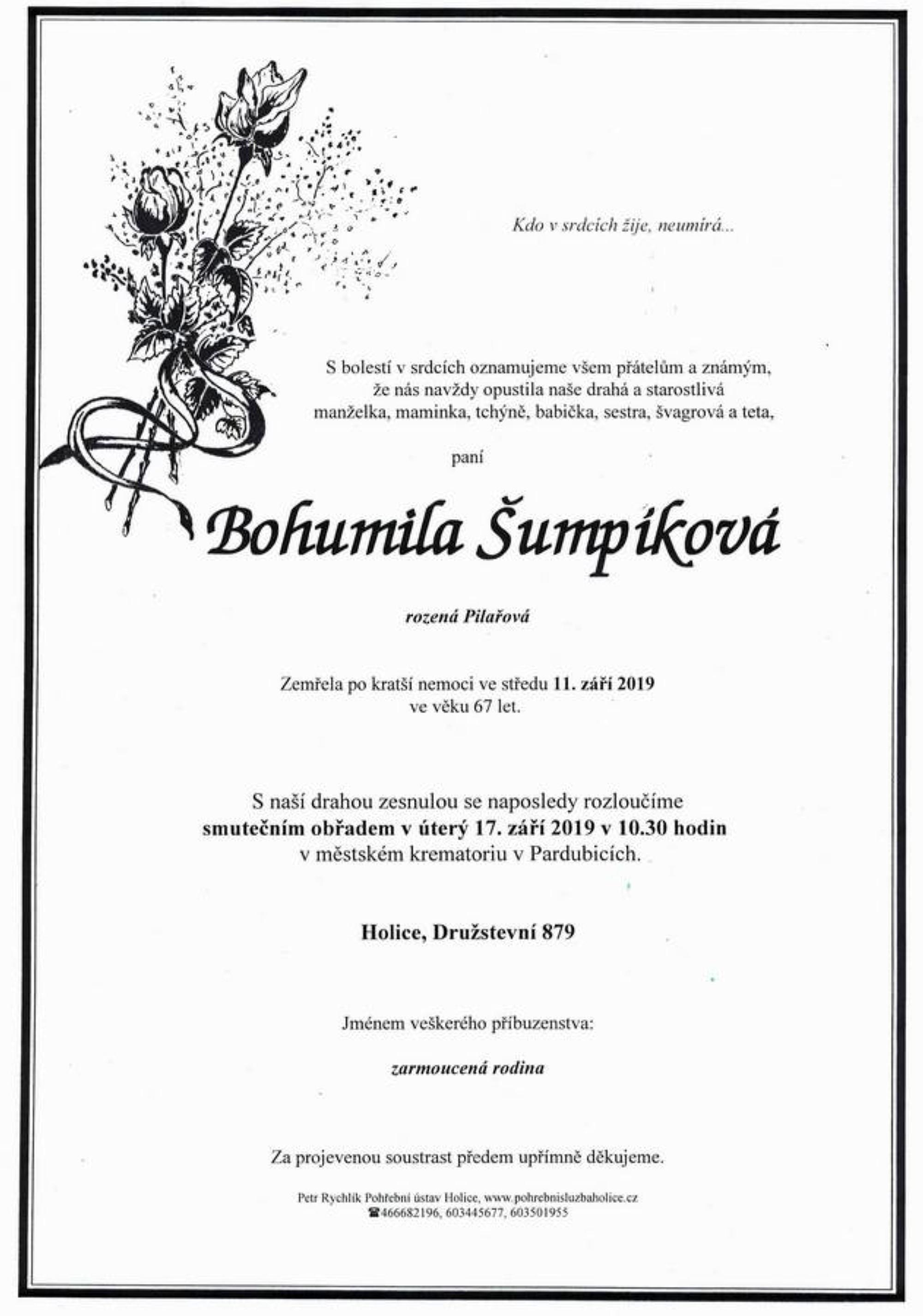 Bohumila Šumpíková