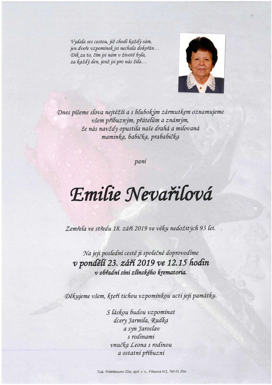Emilie Nevařilová