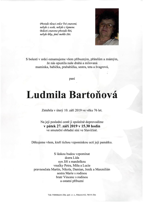 Ludmila Bartoňová