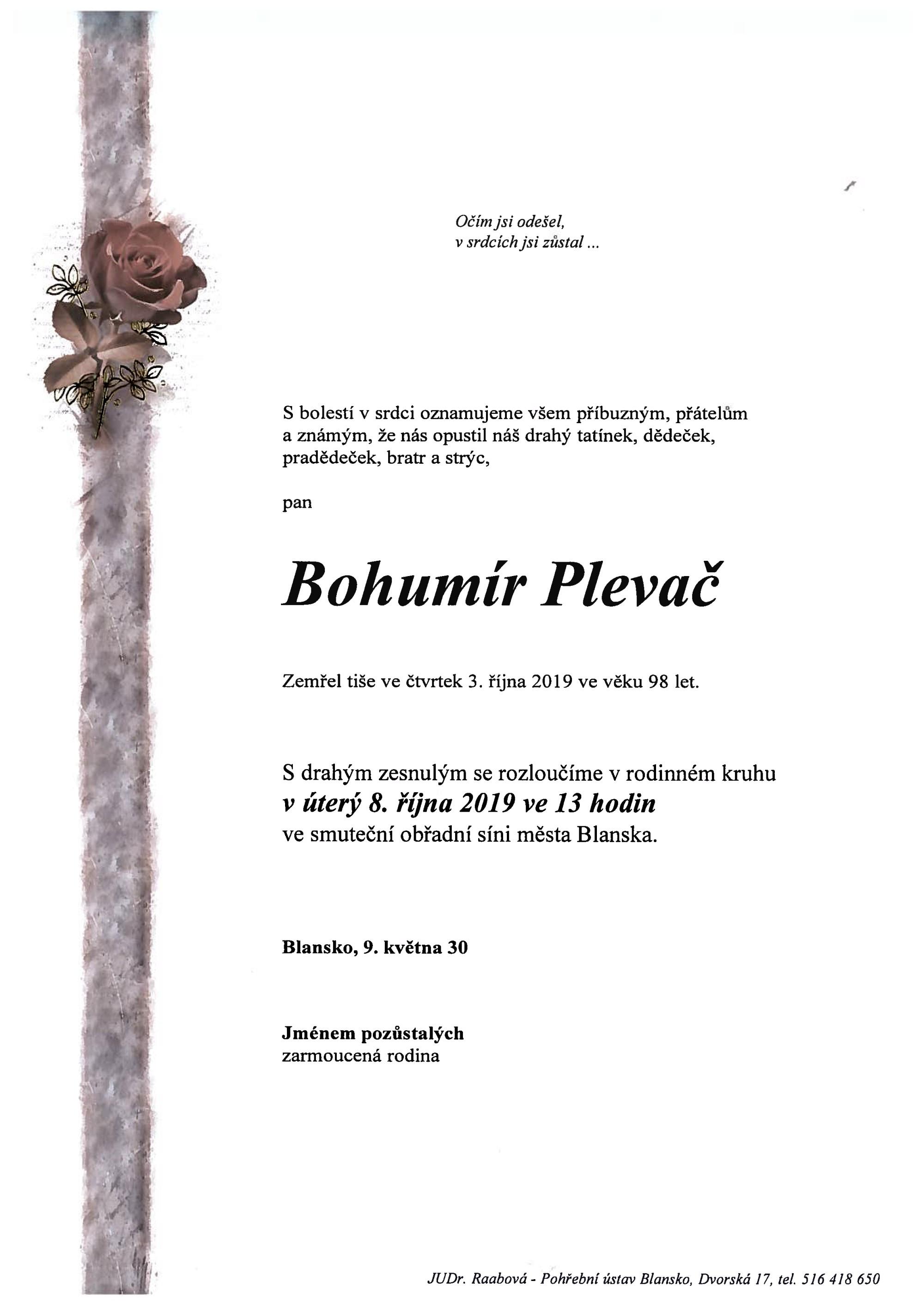 Bohumír Plevač