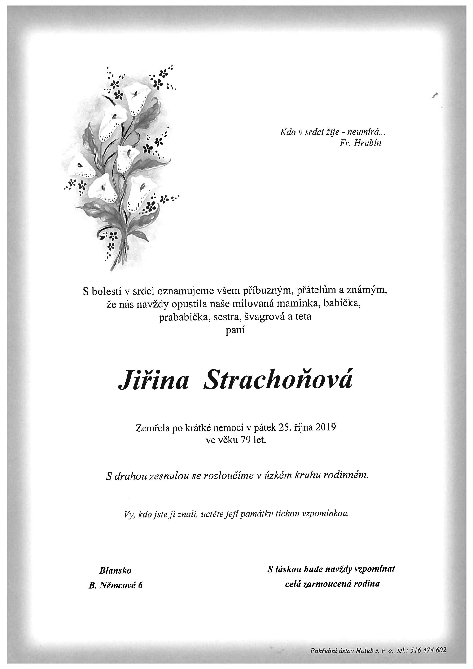 Jiřina Strachoňová