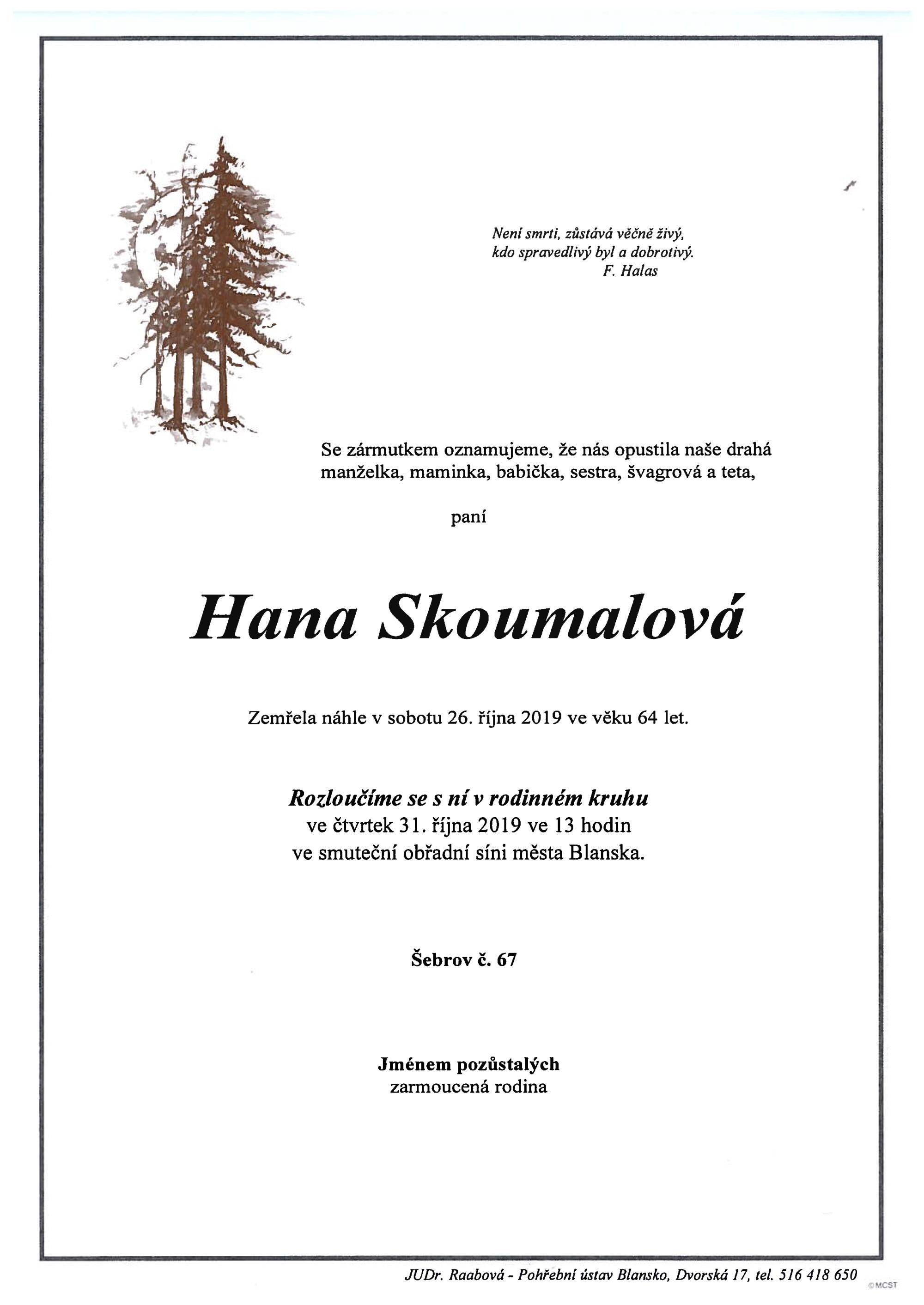 Hana Skoumalová